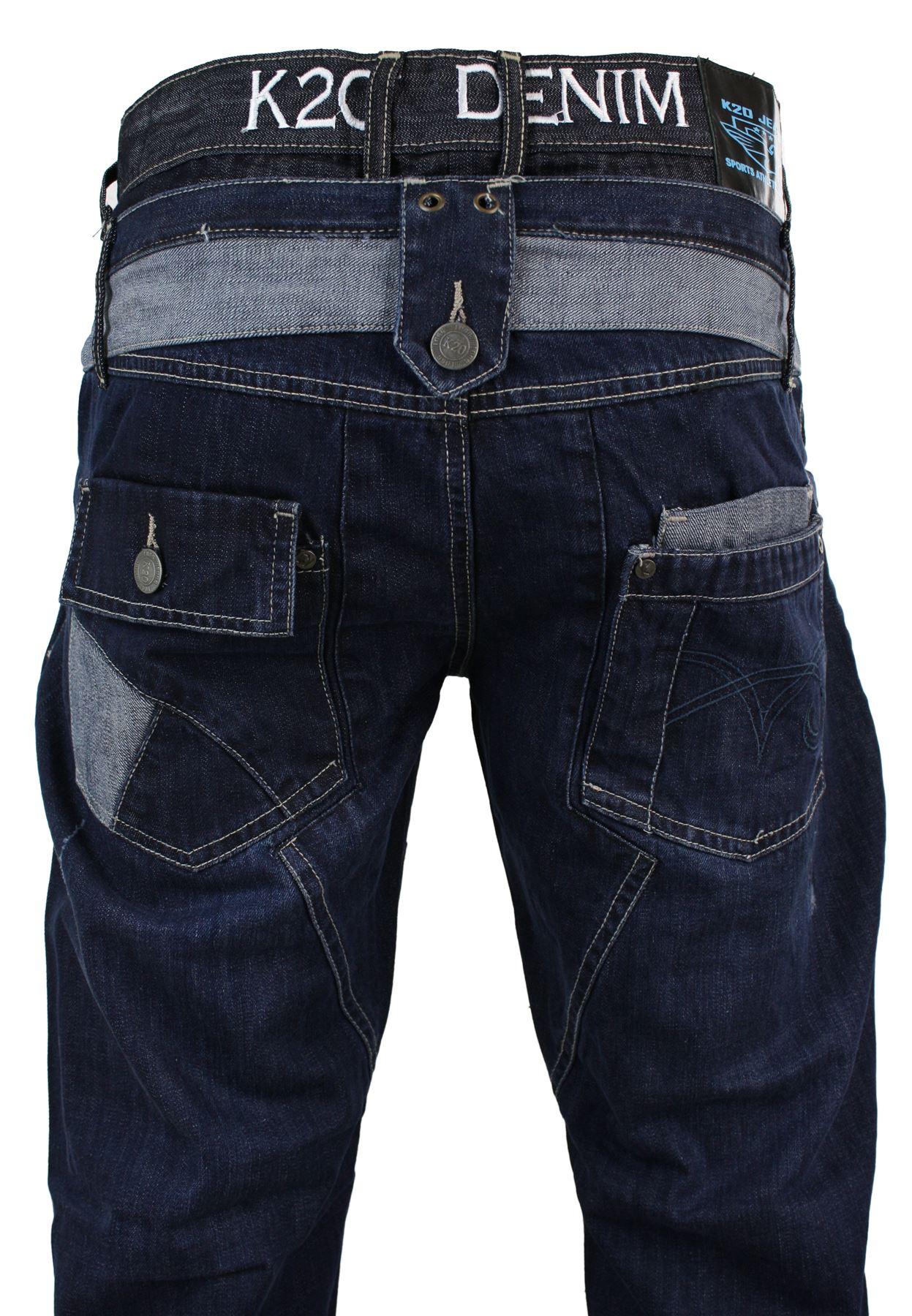 e7c34581d1c Jeans homme baggy coupe droite longueur standard look décontracté ...