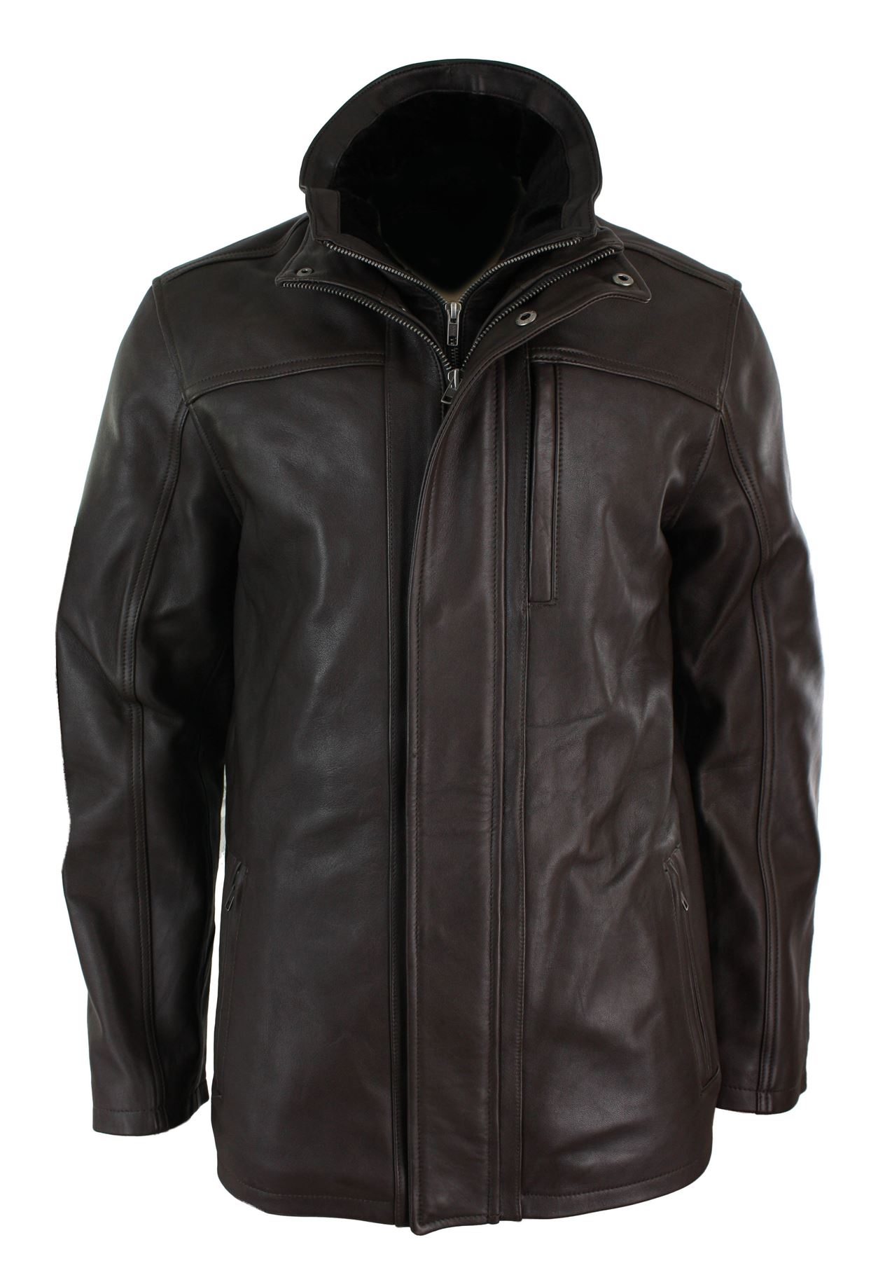 3 4 mens leather jacket