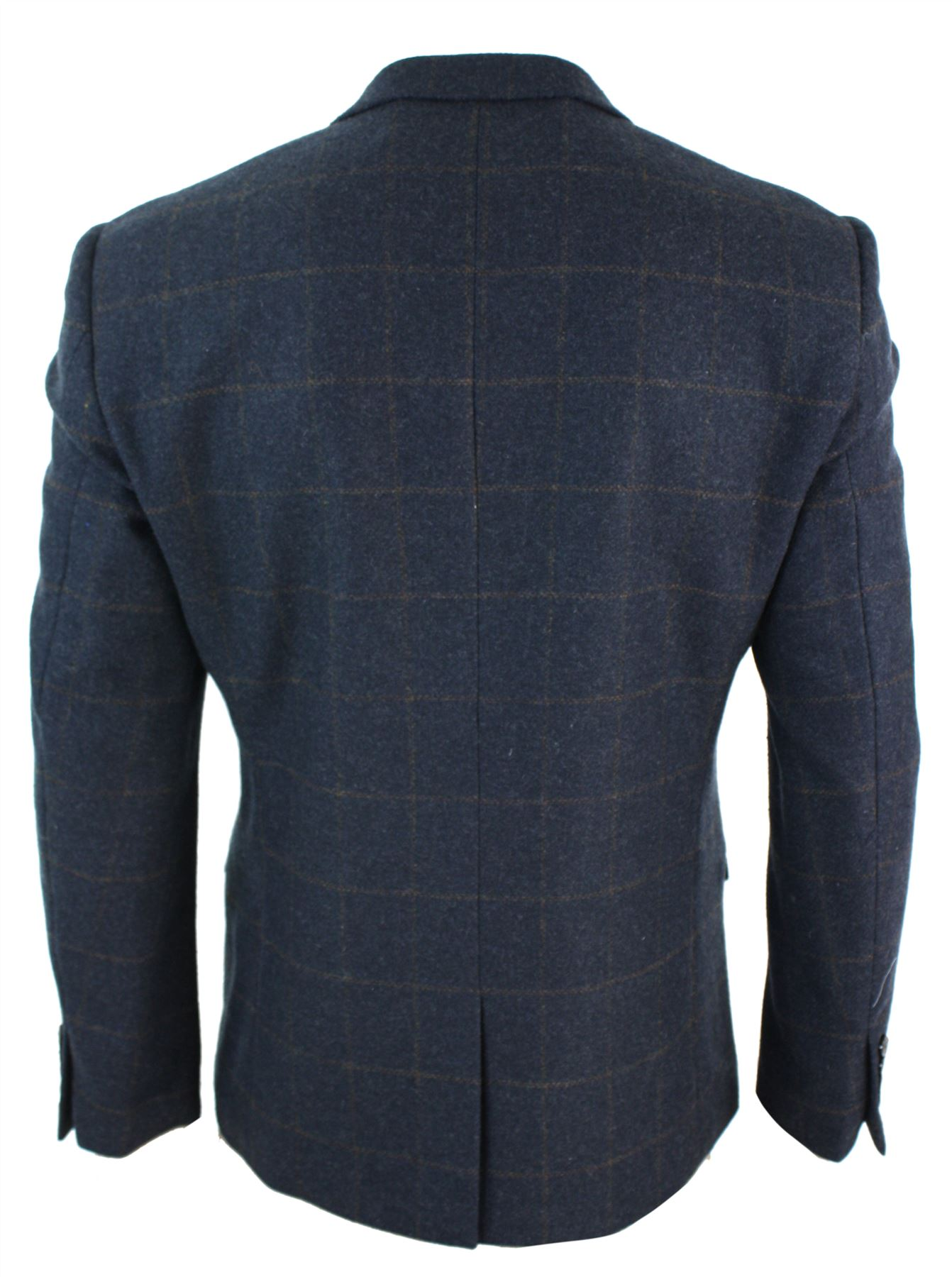 Veste homme tweed chevrons coupe cintr e vintage chic d contract ebay - Veste homme decontracte ...