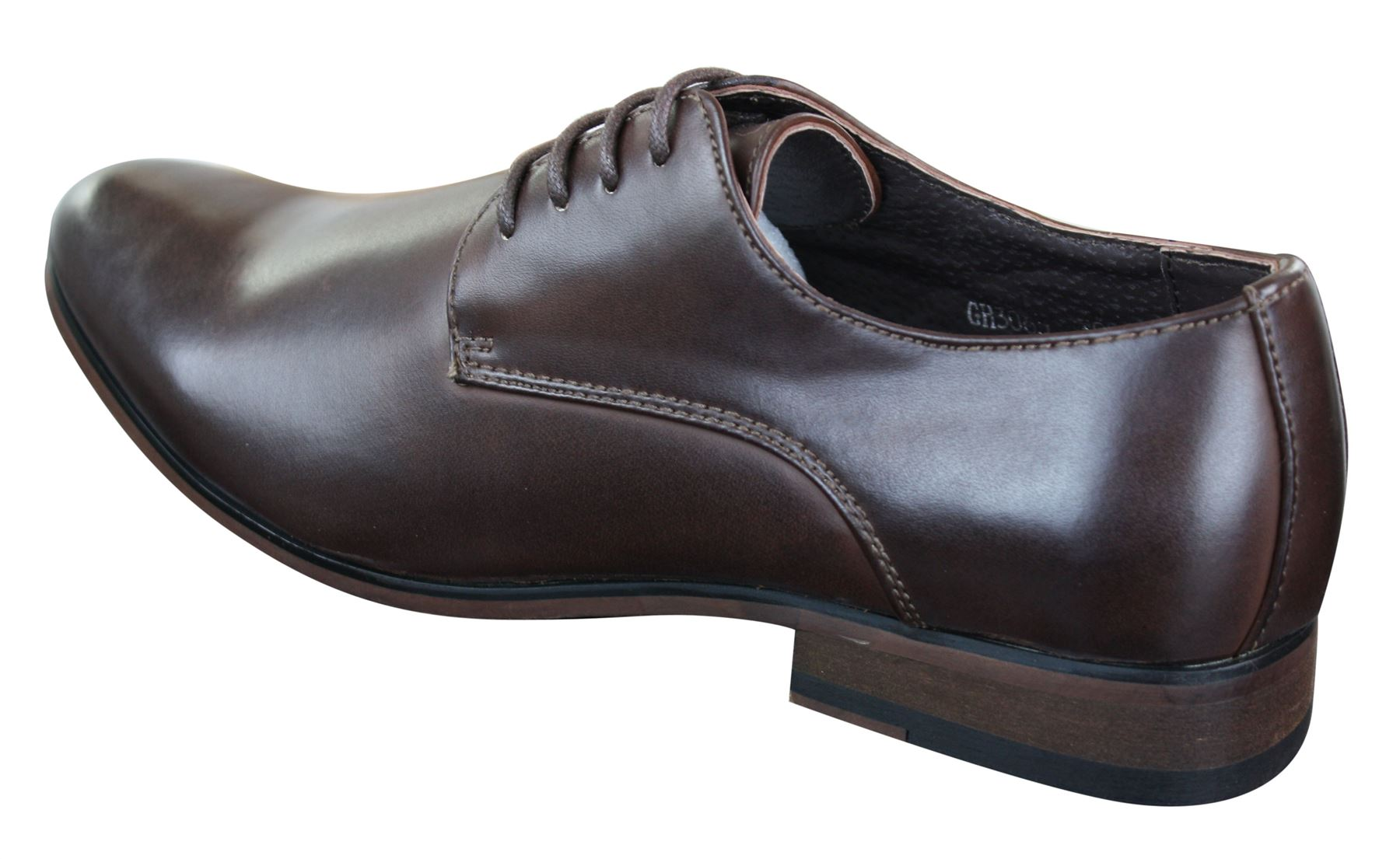Scarpe Classiche da Uomo in Finta Pelle Marrone Stile Vintage con Lacci 4 4  di 4 Vedi Altro f8f8fc50e6a