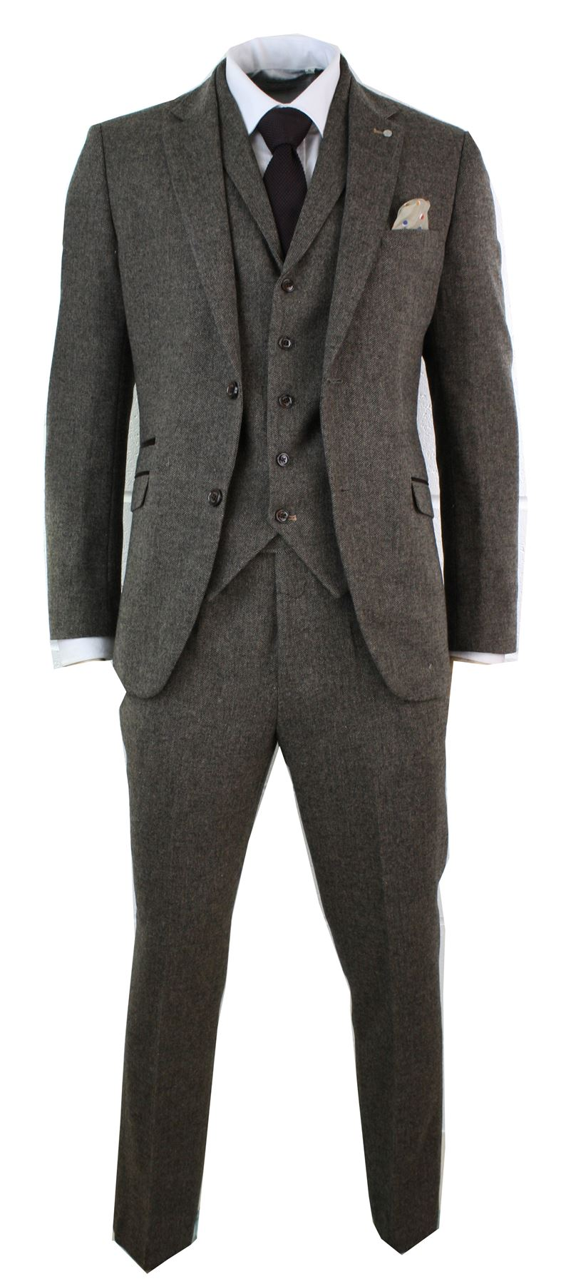 The classic cut suit is back in style, and there's absolutely nothing like the lines a man gets when wearing a good suit. If you really want to take it a step further and add that perfect touch of style and class, you can't beat a wool suit.