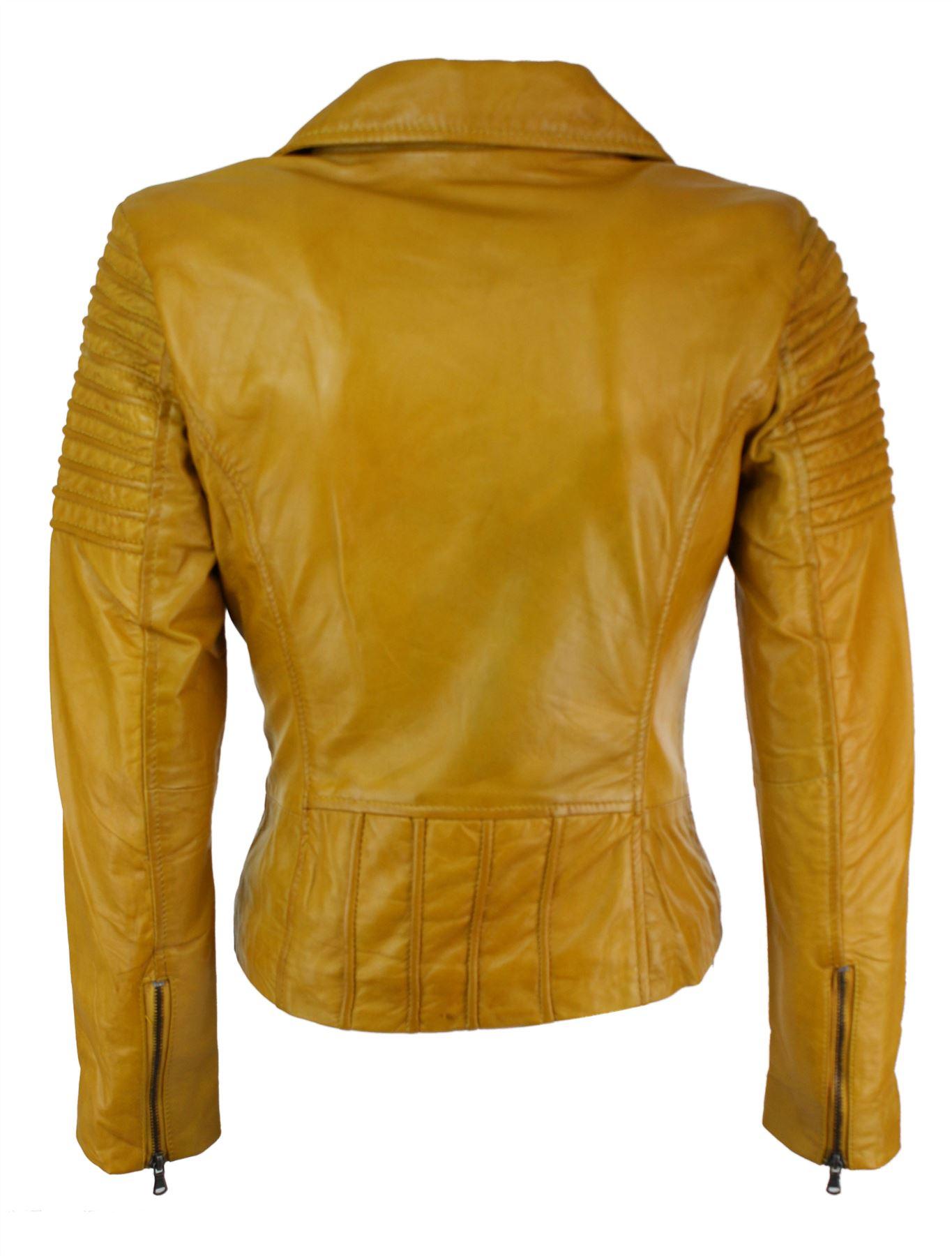 Ayesha Mens Leather Jackets Motorcycle Bomber Biker Genuine Lambskin 17