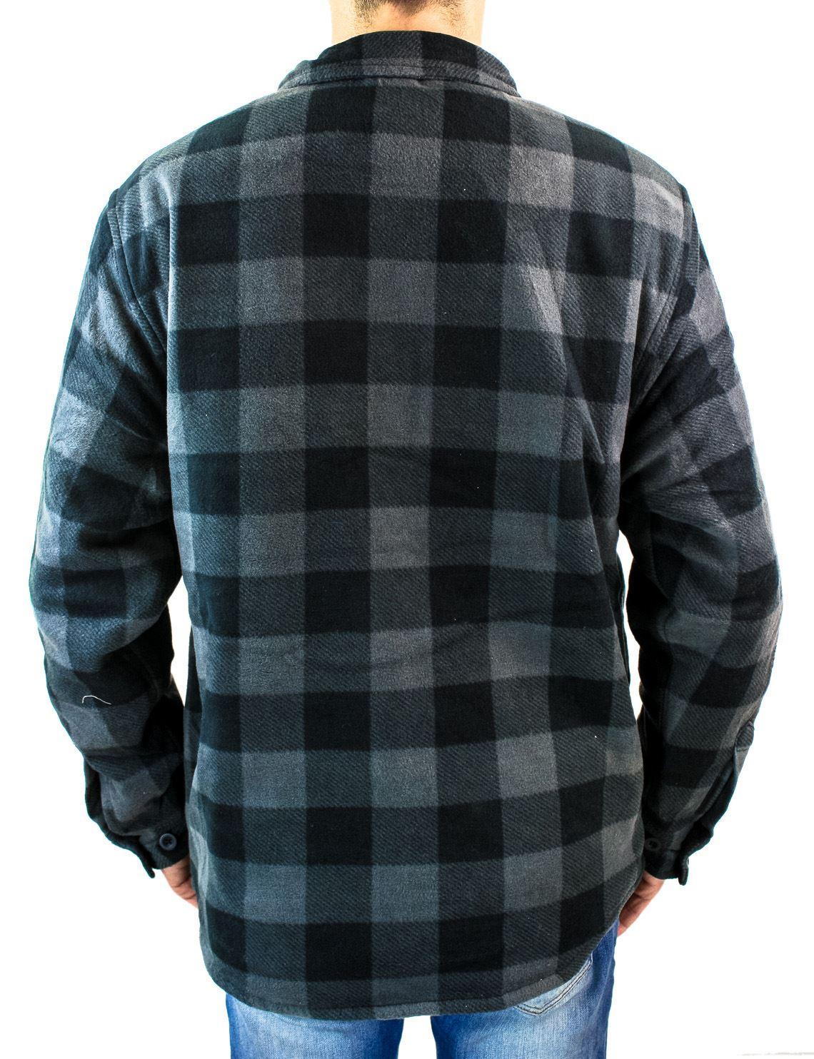 Veste matelass e thermique carreaux chaude hiver chemise for Veste a carreaux homme