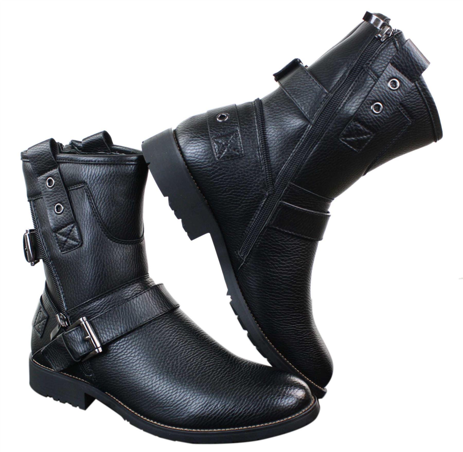 Herrenstiefel Punk Rock Rock Rock Design Schwarz Braun Stiefel Elmo Stil Preis    | Ermäßigung  b82e65