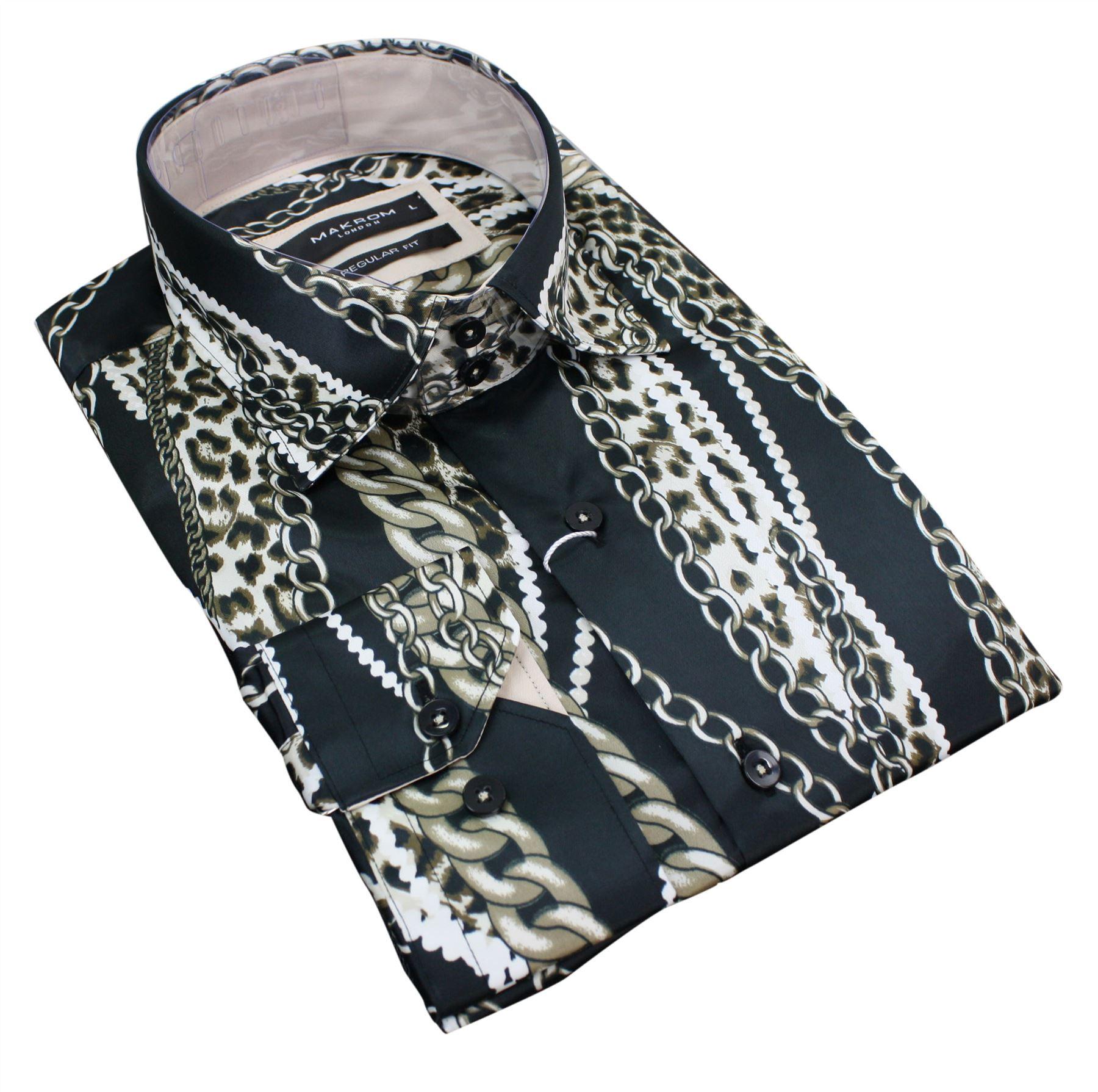 chemise homme tissu effet satin soie dor noir argent. Black Bedroom Furniture Sets. Home Design Ideas