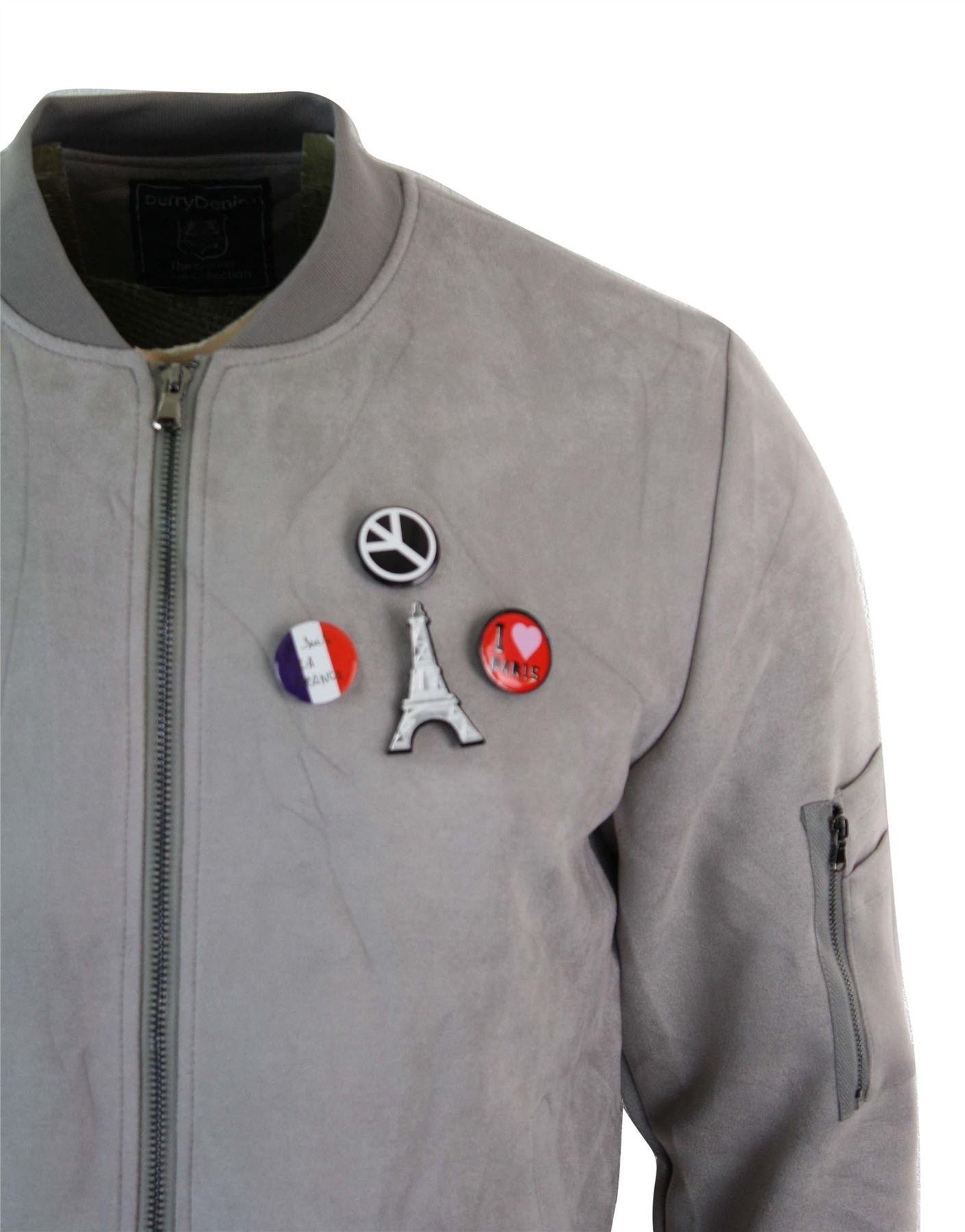 Blouson-homme-simili-daim-MA1-Bomber-retro-aviateur-badges-coupe-ajustee
