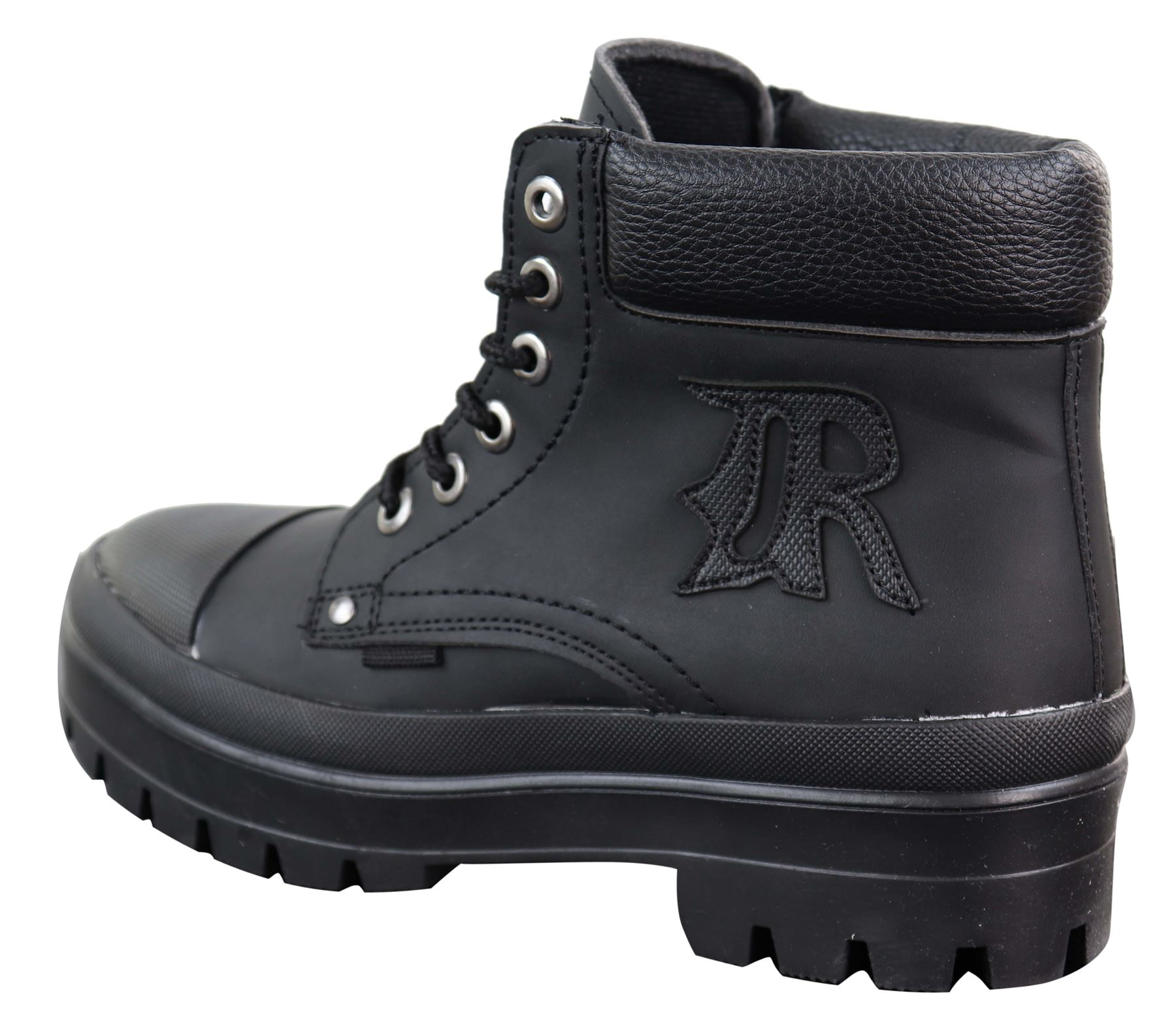 Mens Casual Work Laced R Boots Biker Work Combat Military PU Nubuck Leather