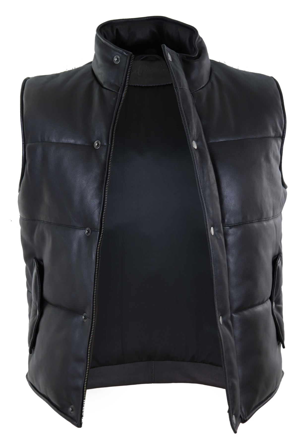 Men/'s Puffer Warm  cherry puffer Leather Quilted Pleasure Shell Vest Gilet 4330