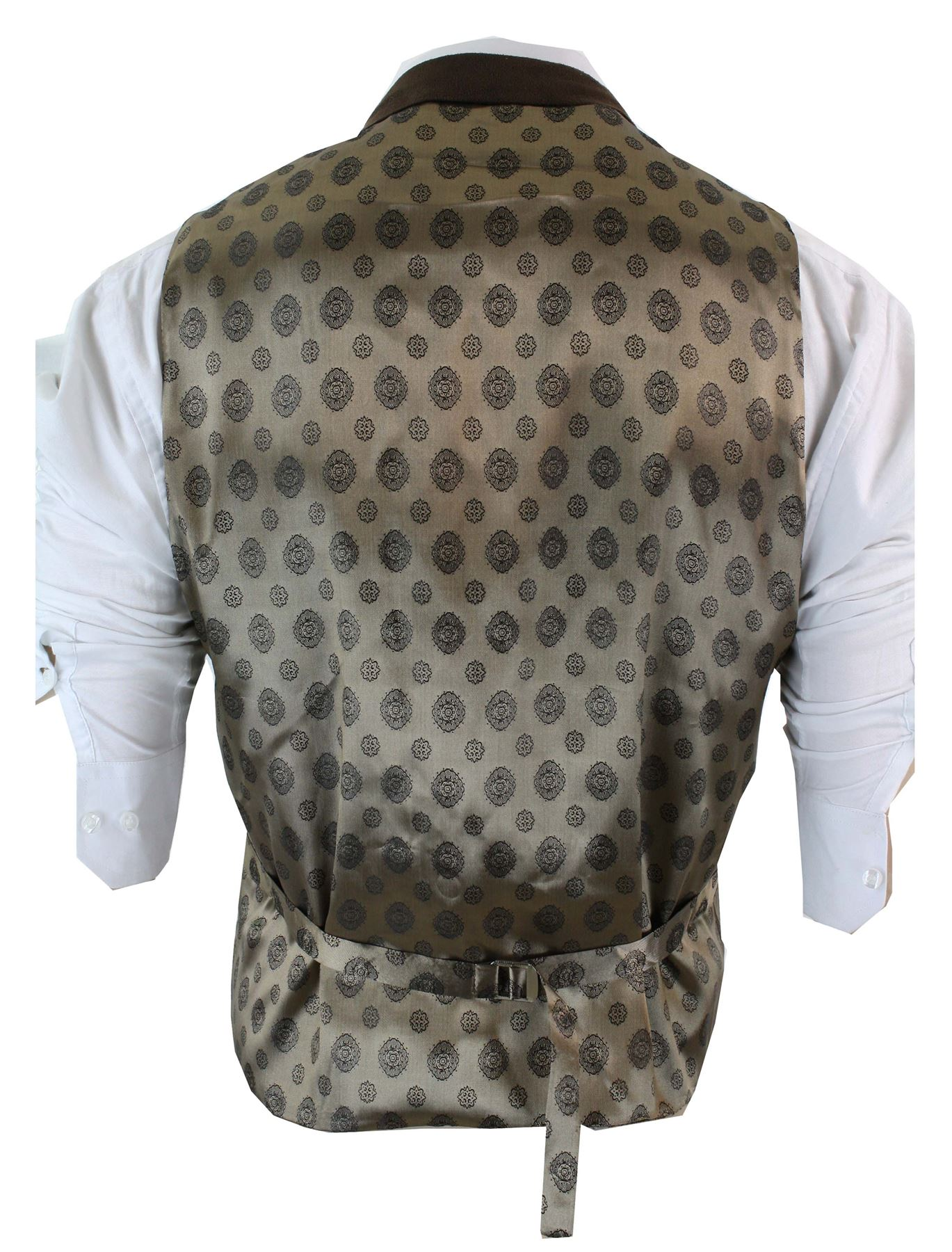 Gilet-homme-veston-vintage-tweed-a-chevrons-marron-noir-creme-gris-coupe-cintree