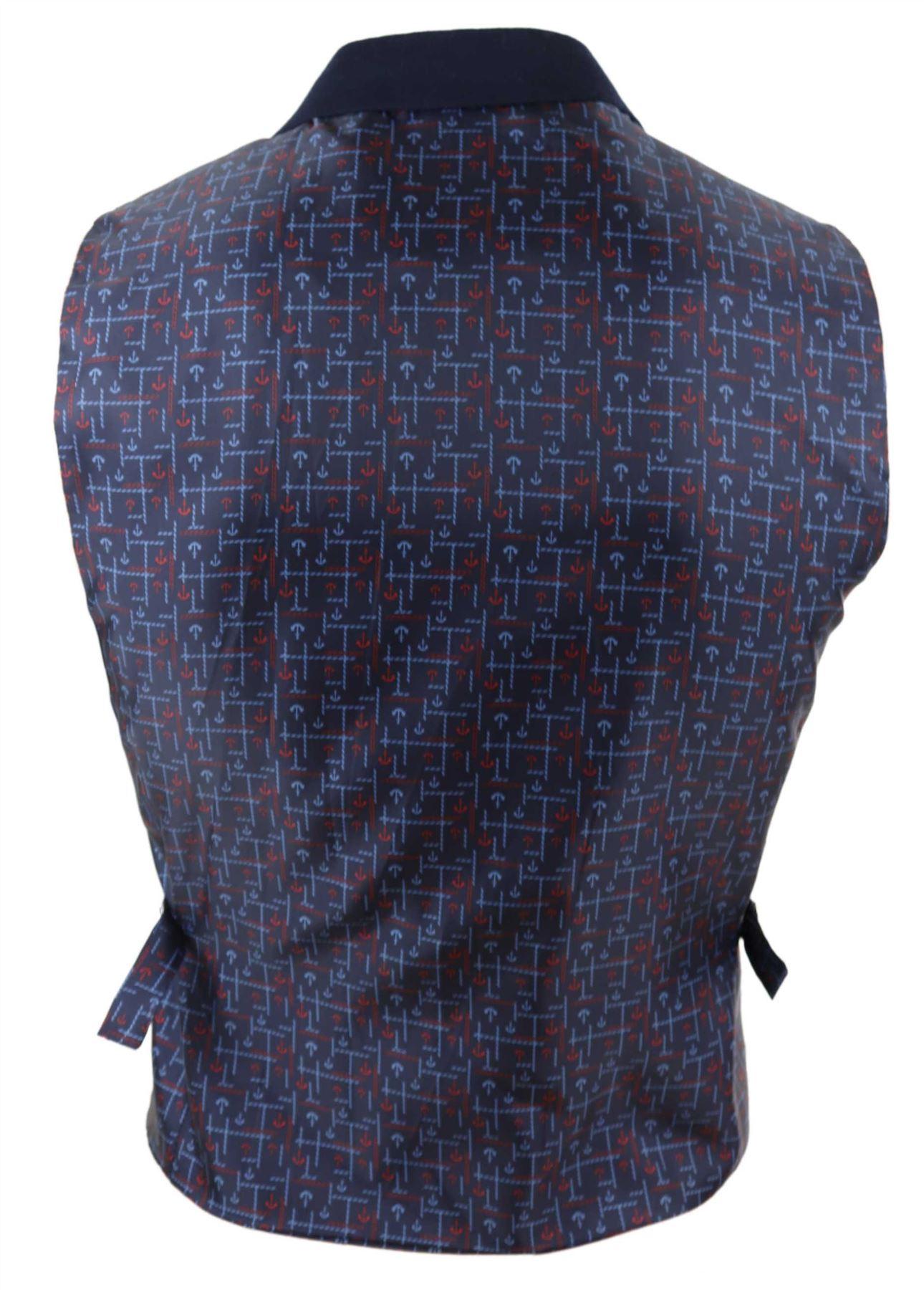 Mens-Waistcoat-Tweed-Check-Classic-Peaky-Blinders-Tailored-Fit-Vintage miniatuur 3