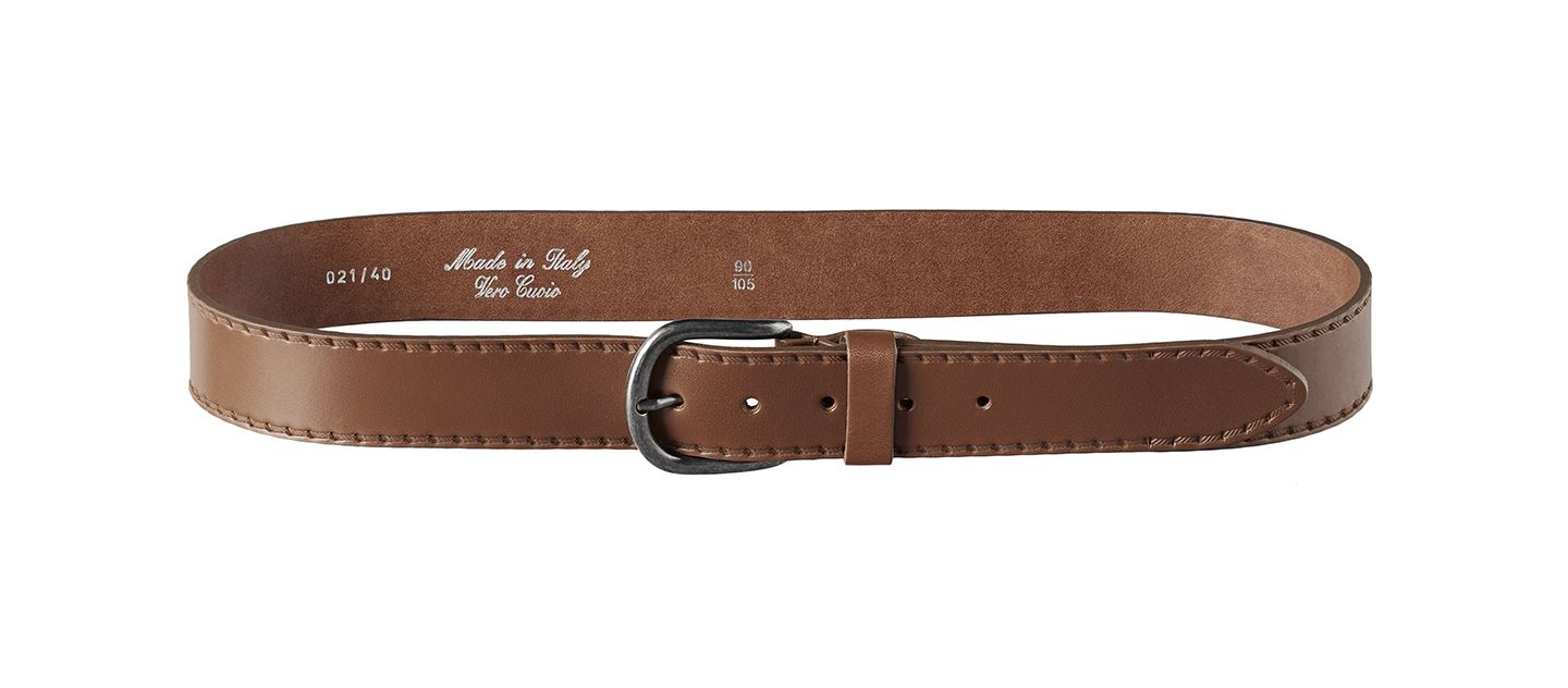 Mens Italian 100/% Real Leather Jeans Belt Made in Italy Smart Casual Stitch