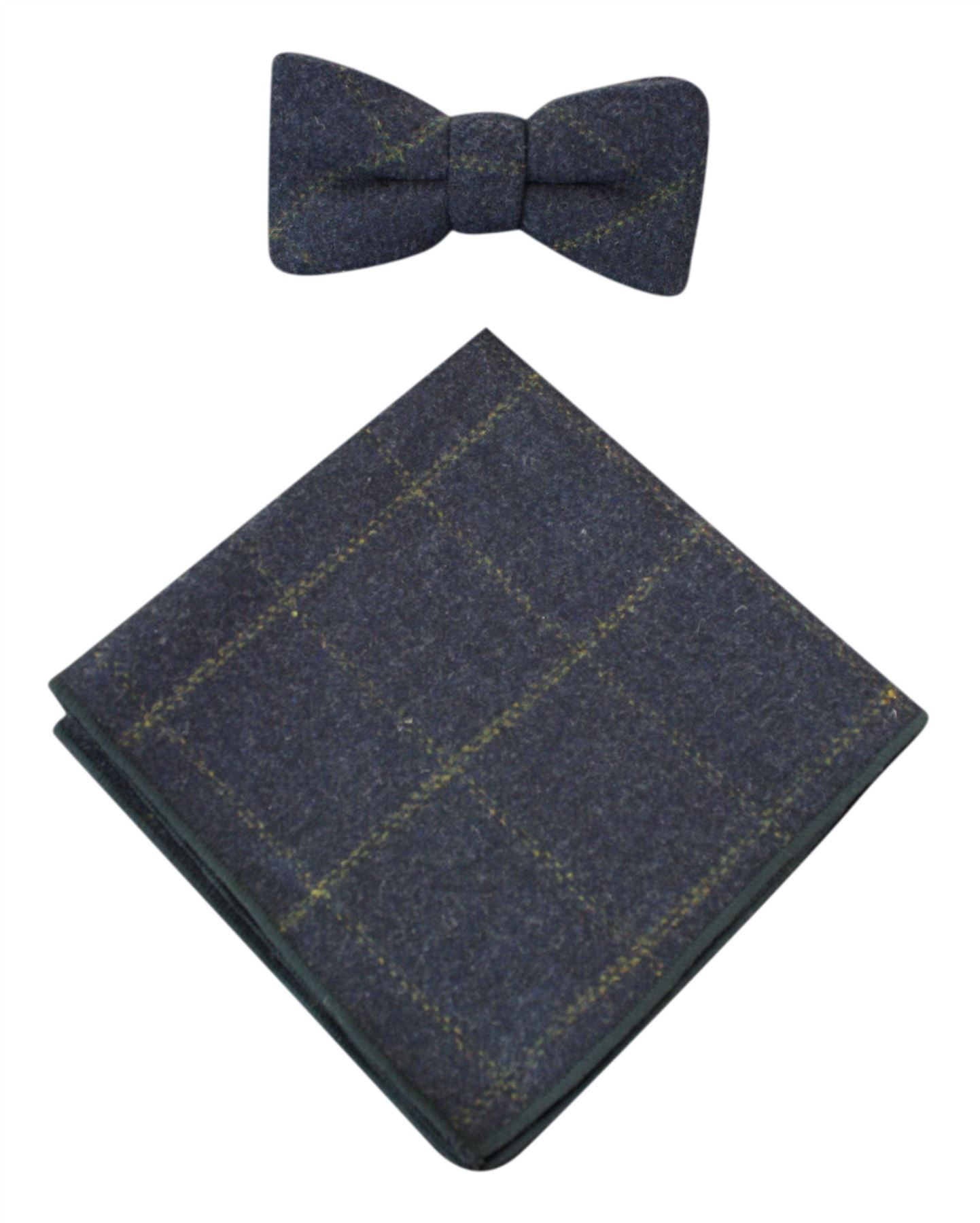 noeud papillon et pochette pour homme tissu fa on tweed. Black Bedroom Furniture Sets. Home Design Ideas