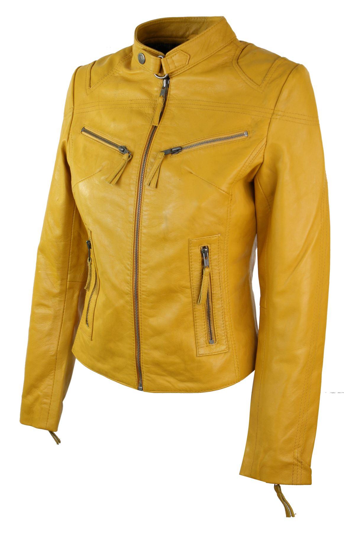 7e954b671ffe Perfecto femme cuir véritable style biker vintage coupe cintrée   eBay