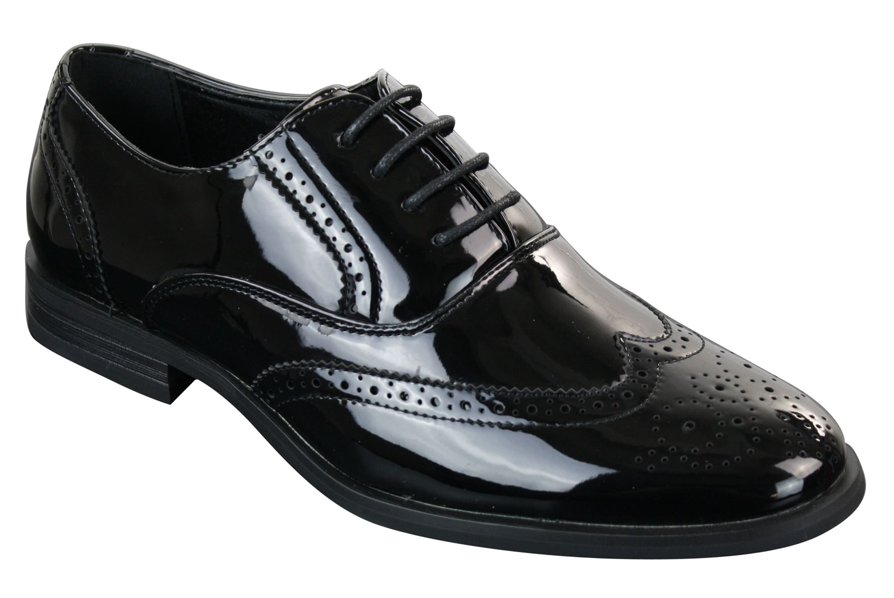 Classic Shiny Black Mens Shoes