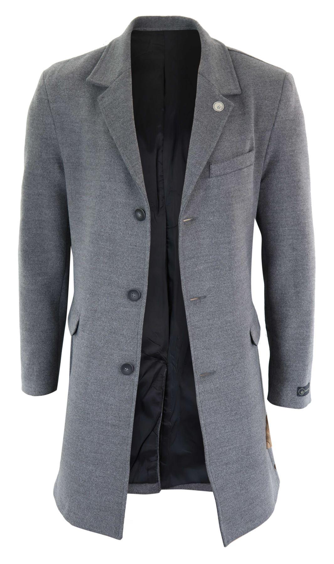 manteau homme longueur 3 4 veste effet laine coupe slim. Black Bedroom Furniture Sets. Home Design Ideas