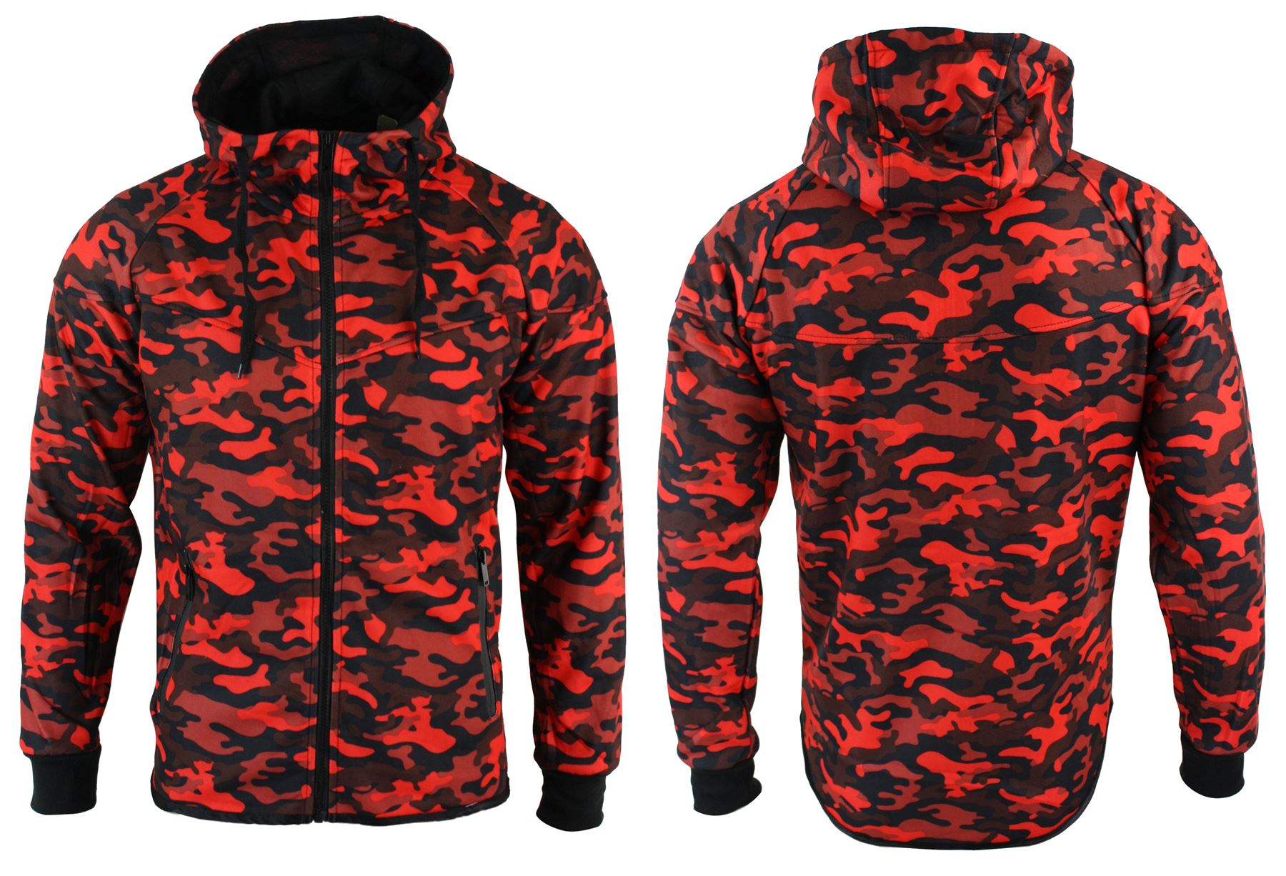 Mens camo camouflage full tracksuit bottoms top zip hooded for Mercedes benz tracksuit