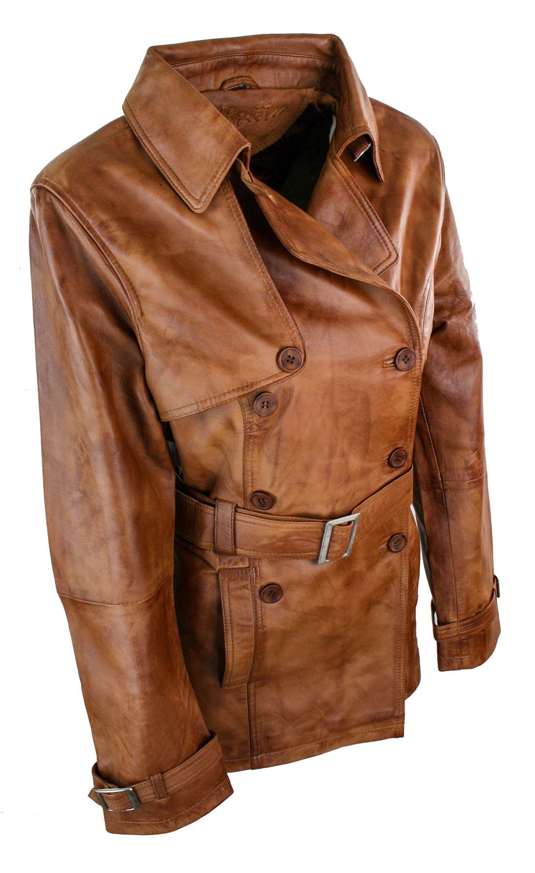 veste trench mi longue designer cuir v ritable double boutonnage femme ebay. Black Bedroom Furniture Sets. Home Design Ideas