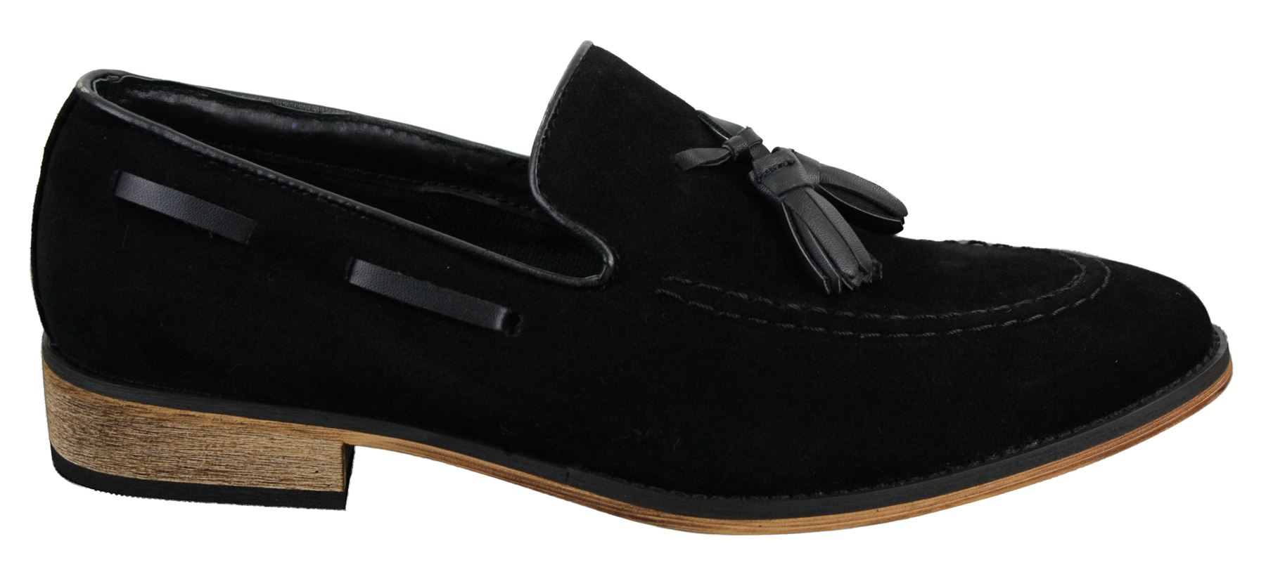 mens italian slip on driving shoes loafers tassle suede