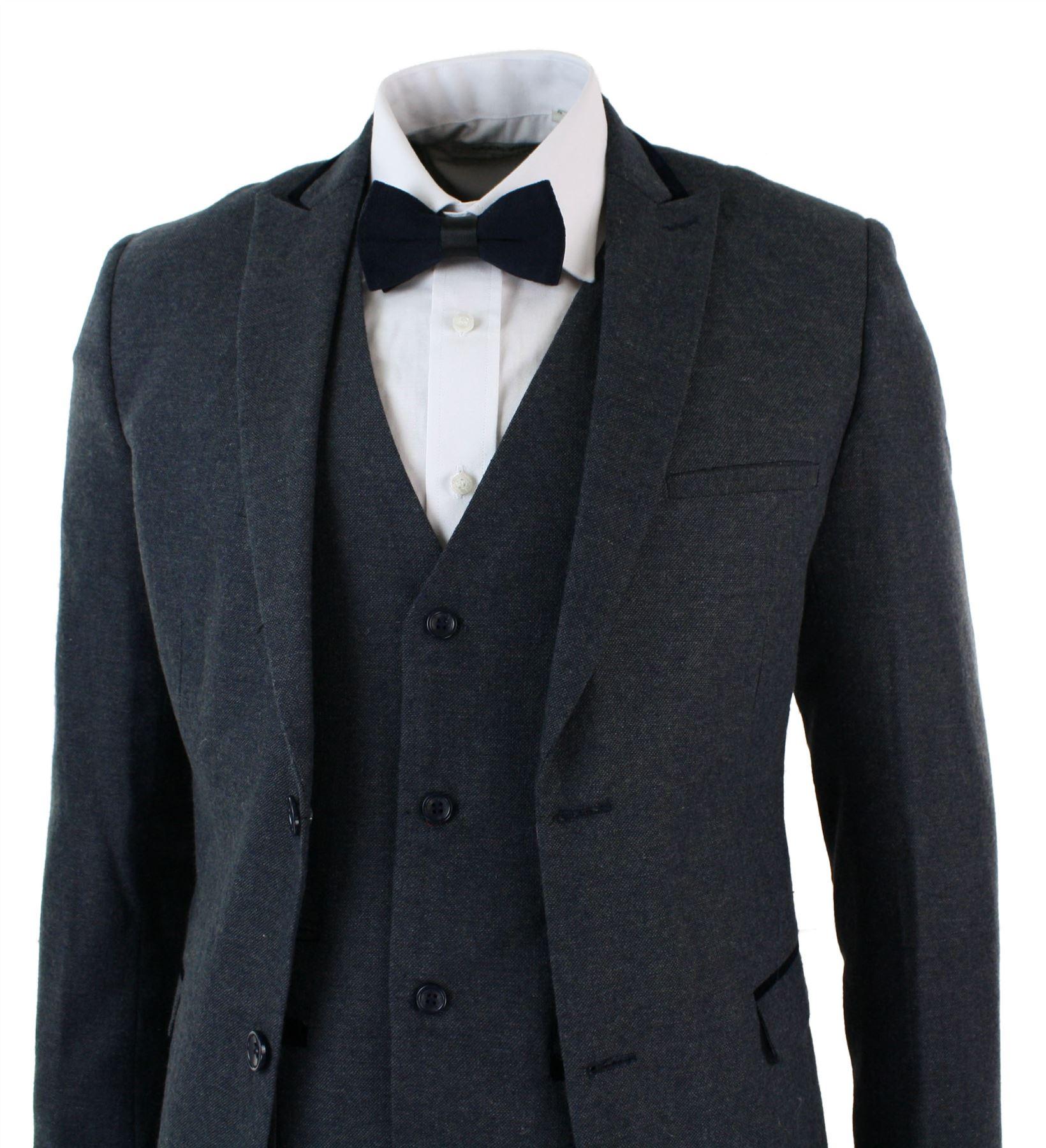 herrenanzug marineblau fischgr te design tweed vintage 3 teiliger anzug ebay. Black Bedroom Furniture Sets. Home Design Ideas