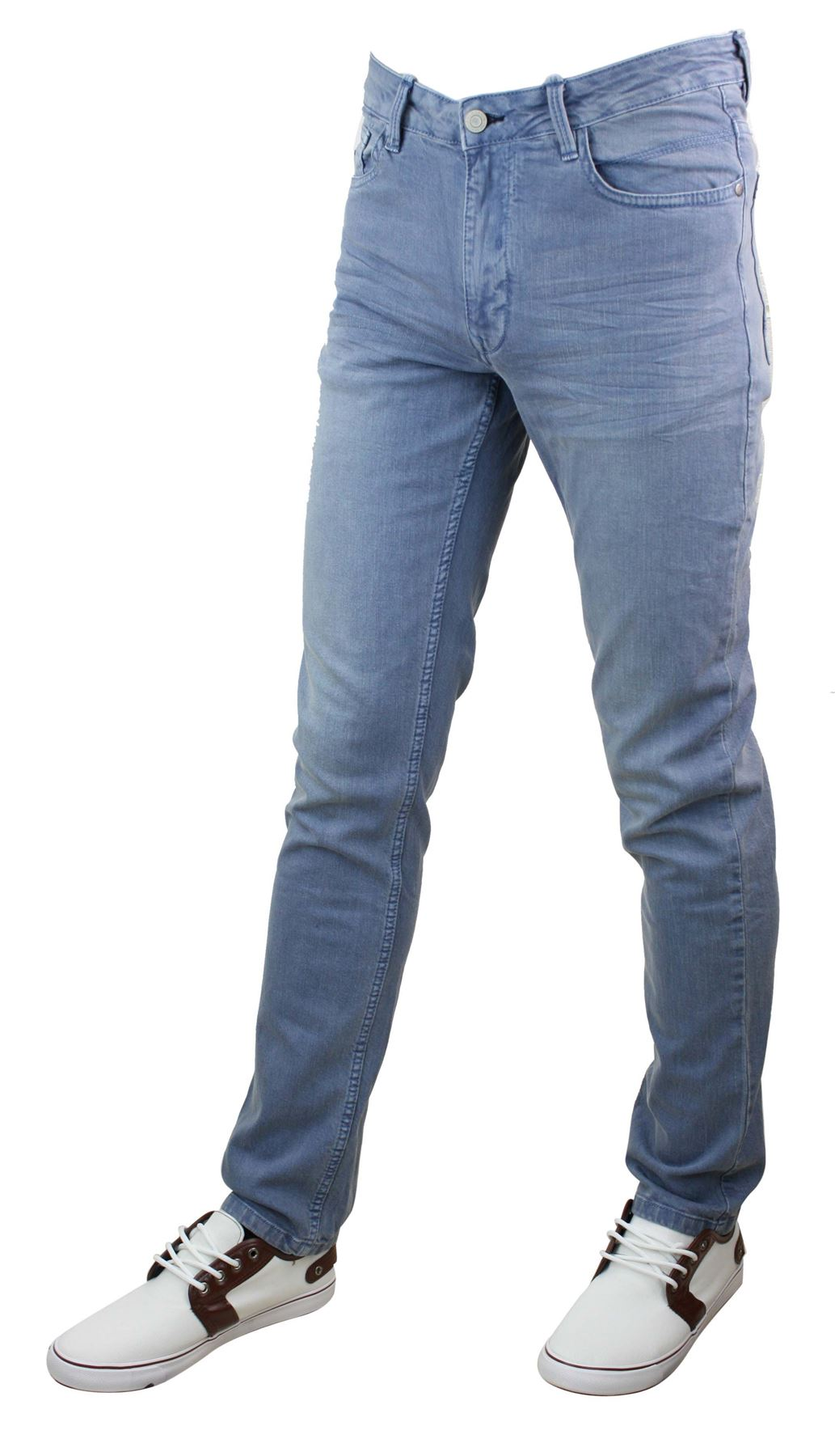 mens denim skinny stretch slim fit jeans all waist sizes 100 cotton designer ebay. Black Bedroom Furniture Sets. Home Design Ideas