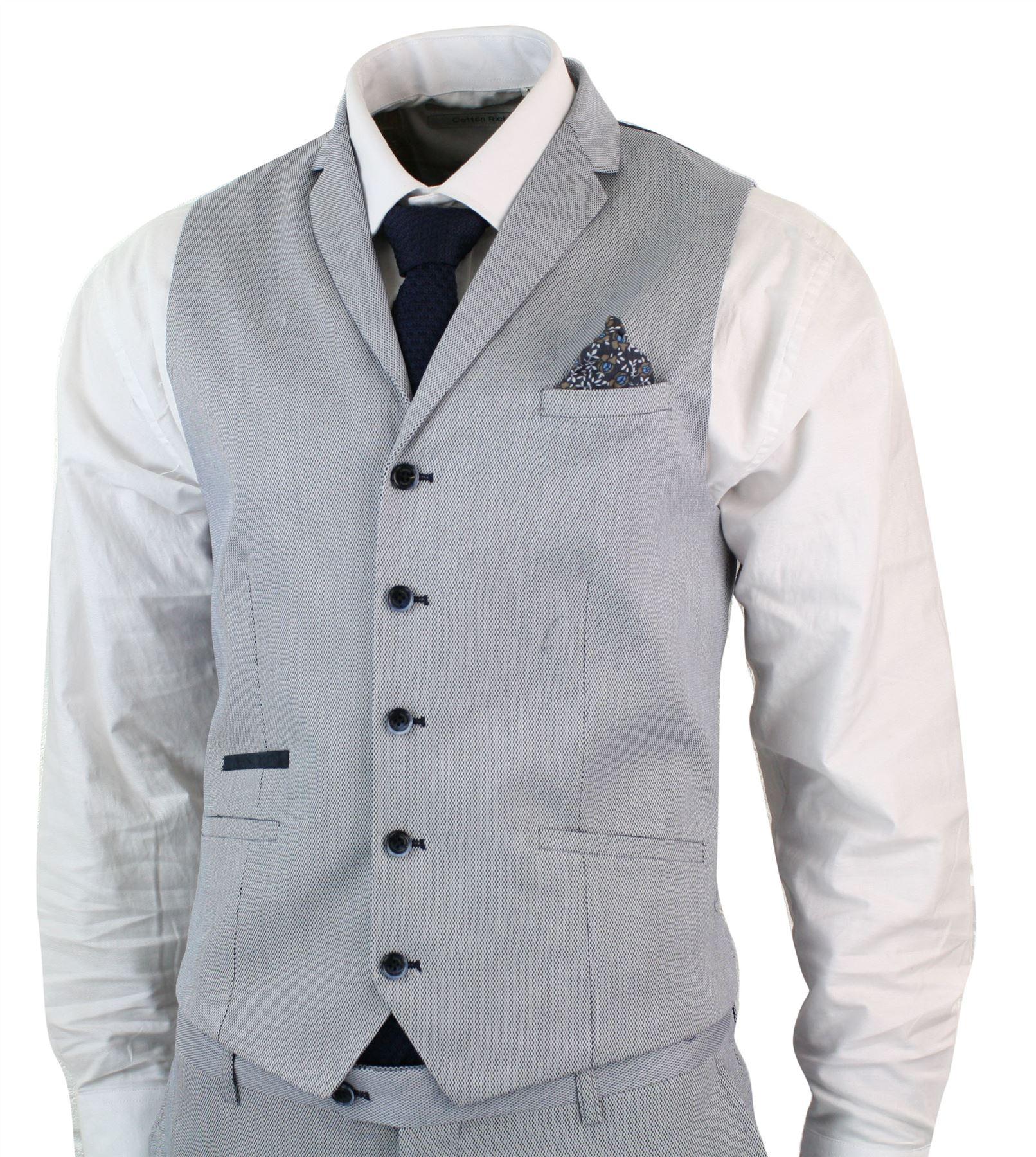 Herrenanzug Blau Grau Marineblau 3 Teilig Eng Tailliert Designer   eBay 2e3513f35a