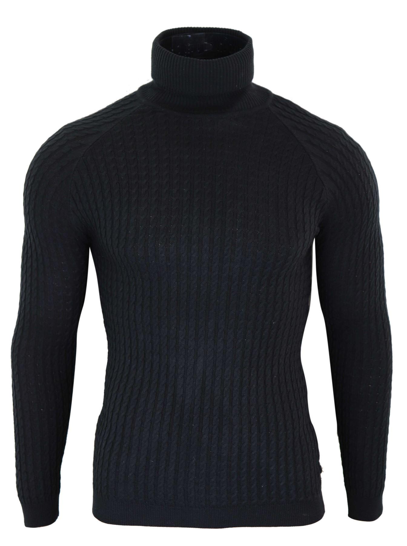 Détails sur Pull homme col roulé coupe slim tricot léger style scandinave chic décontracté