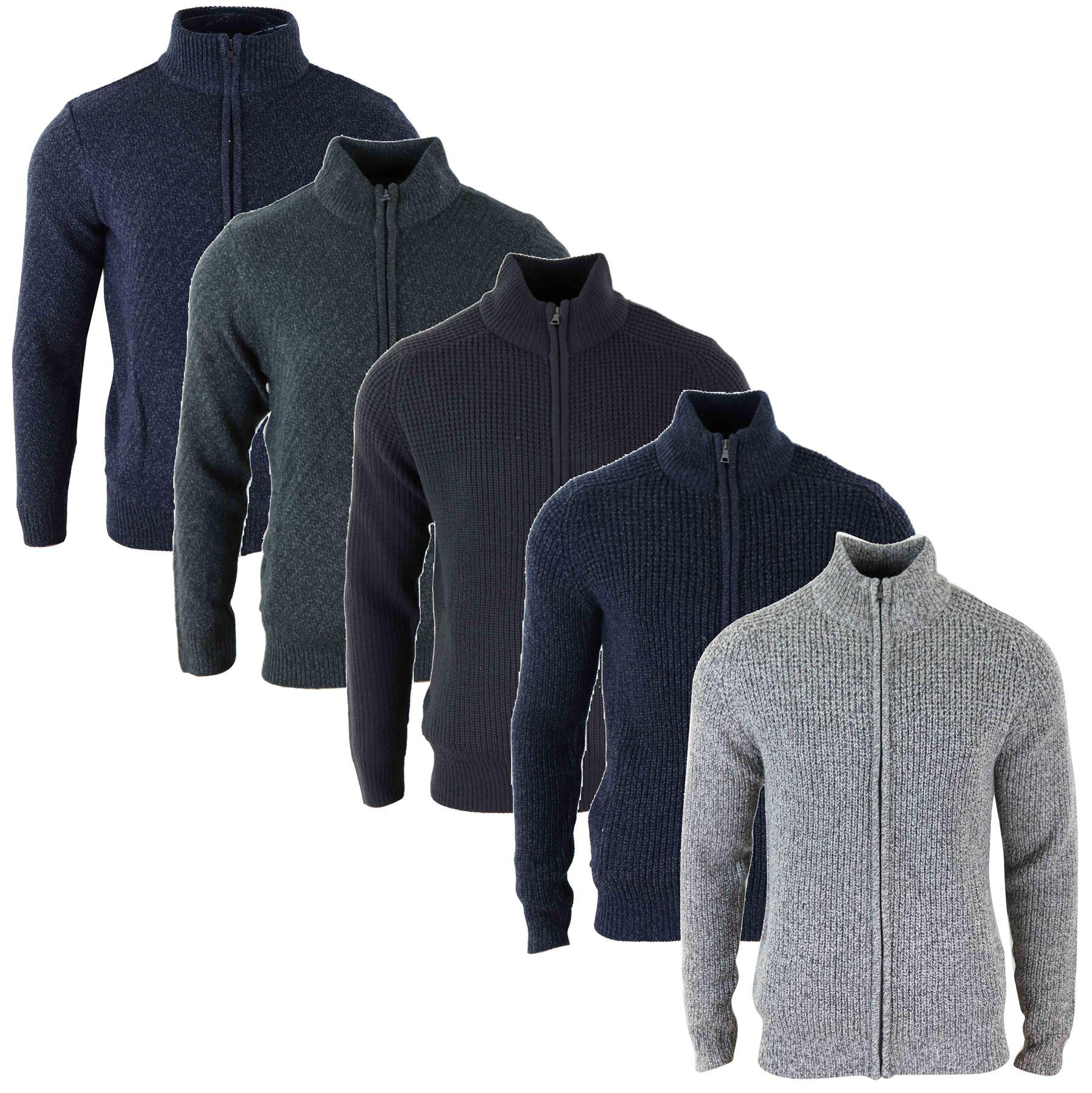 GILET CARDIGAN HOMME pull zippé tricot épais