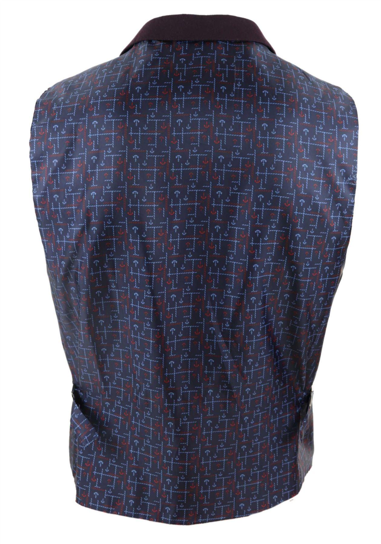 Mens-Waistcoat-Tweed-Check-Classic-Peaky-Blinders-Tailored-Fit-Vintage miniatuur 5