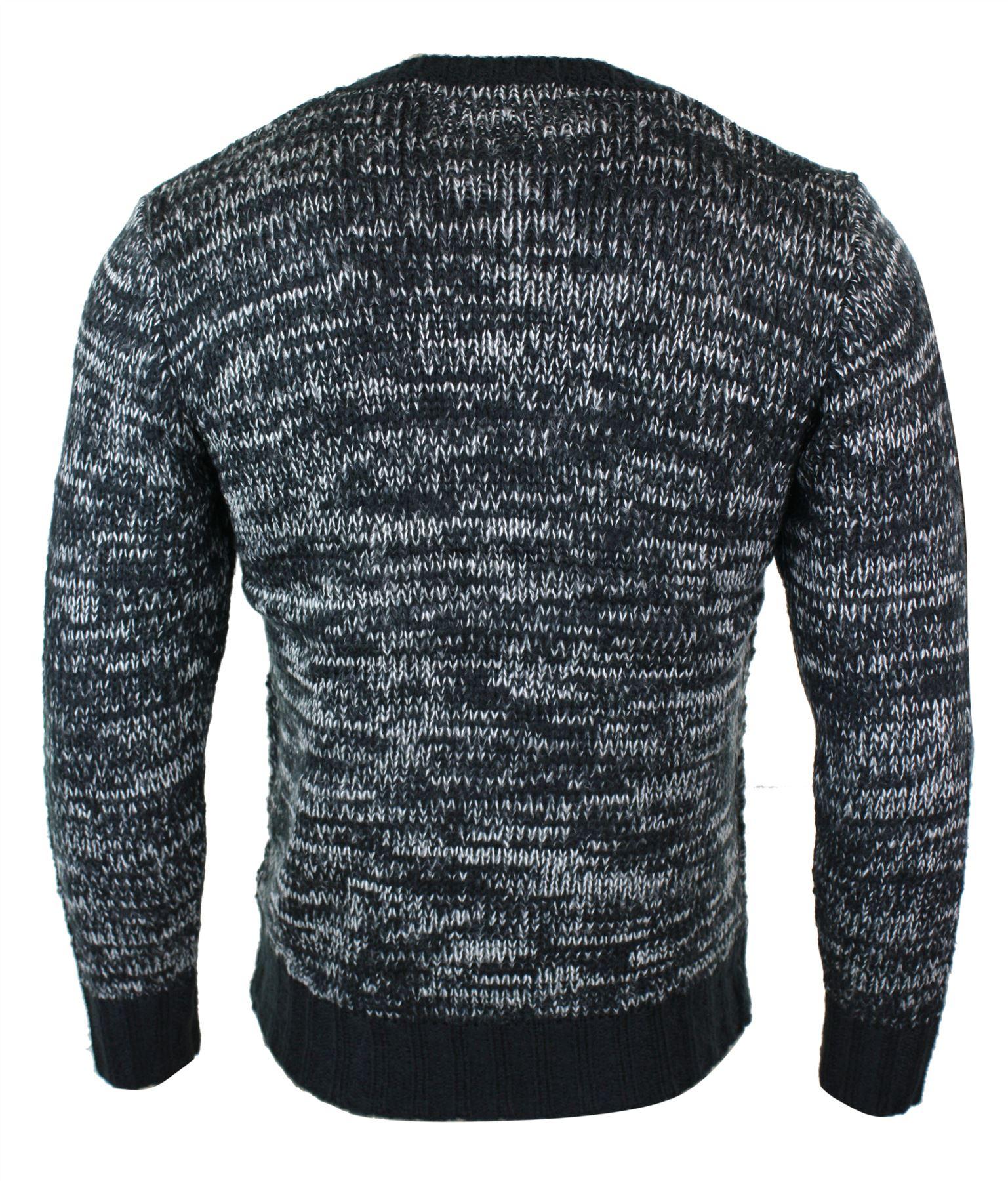 40a6361b6 Détails sur Pull homme laine mélangée tricot chic classique col rond chaud  pour l'hiver