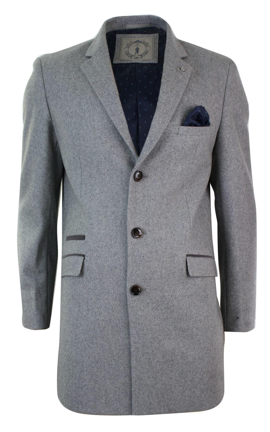 manteau 3 4 homme gris clair laine m lang e tweed feutre. Black Bedroom Furniture Sets. Home Design Ideas