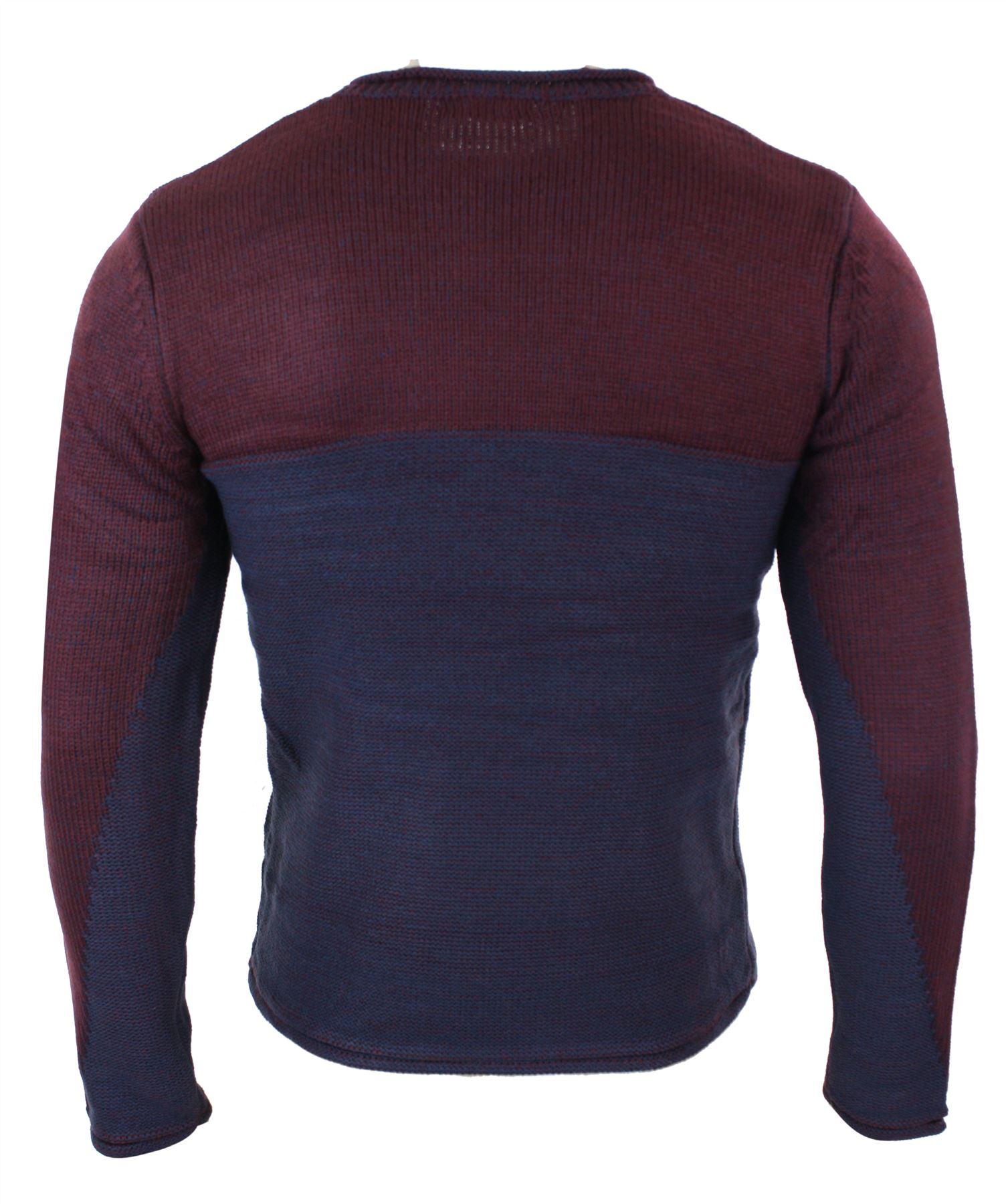 e94b54f30 Détails sur Pull homme col rond tricot classique chic décontracté chaud  pour l'hiver