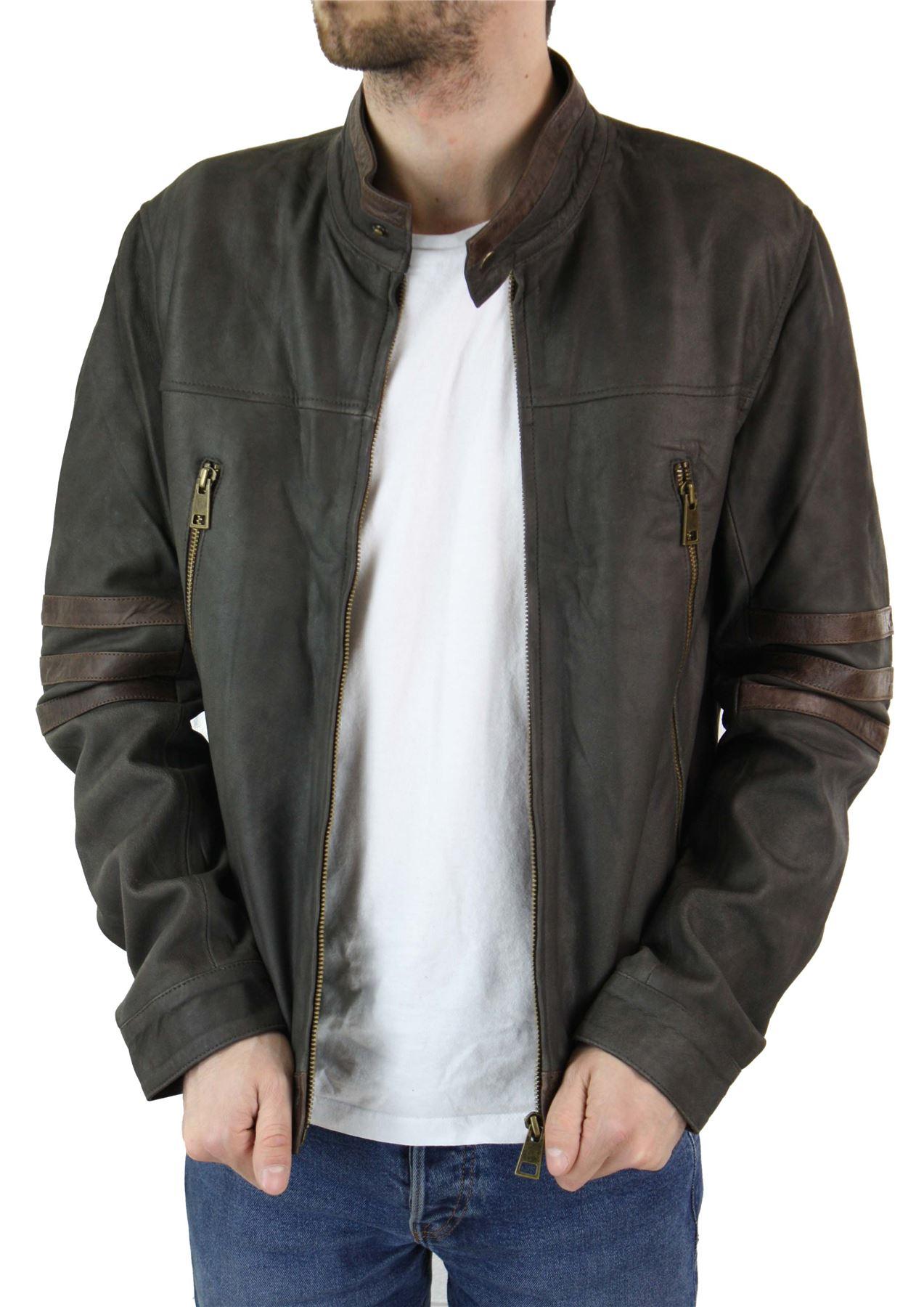 Blouson cuir véritable noir ou marron style X-Men Wolverine biker ... 2d01d9371c15