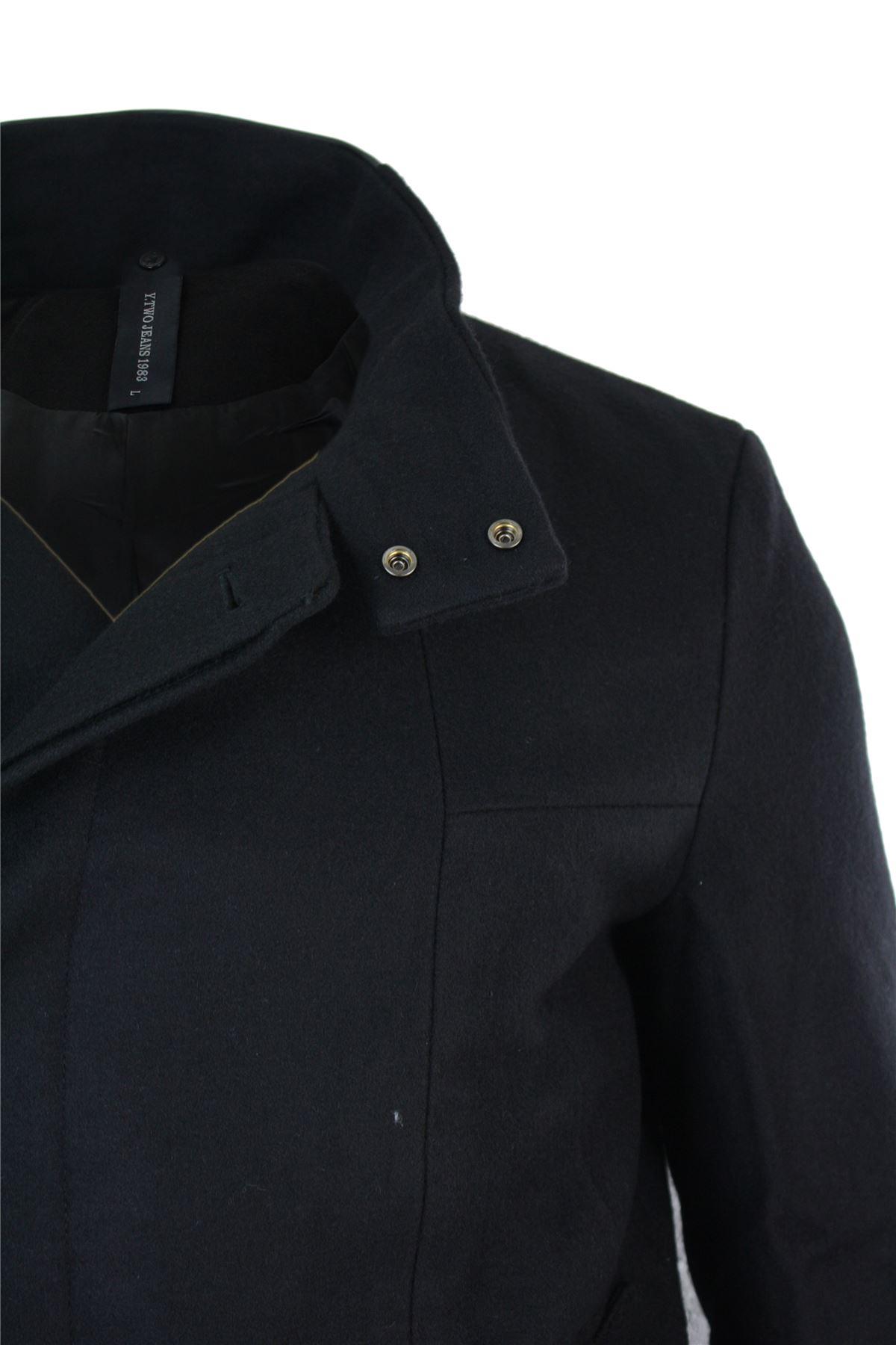 manteau homme veste cintr e 3 4 khaki olive noir col mao. Black Bedroom Furniture Sets. Home Design Ideas