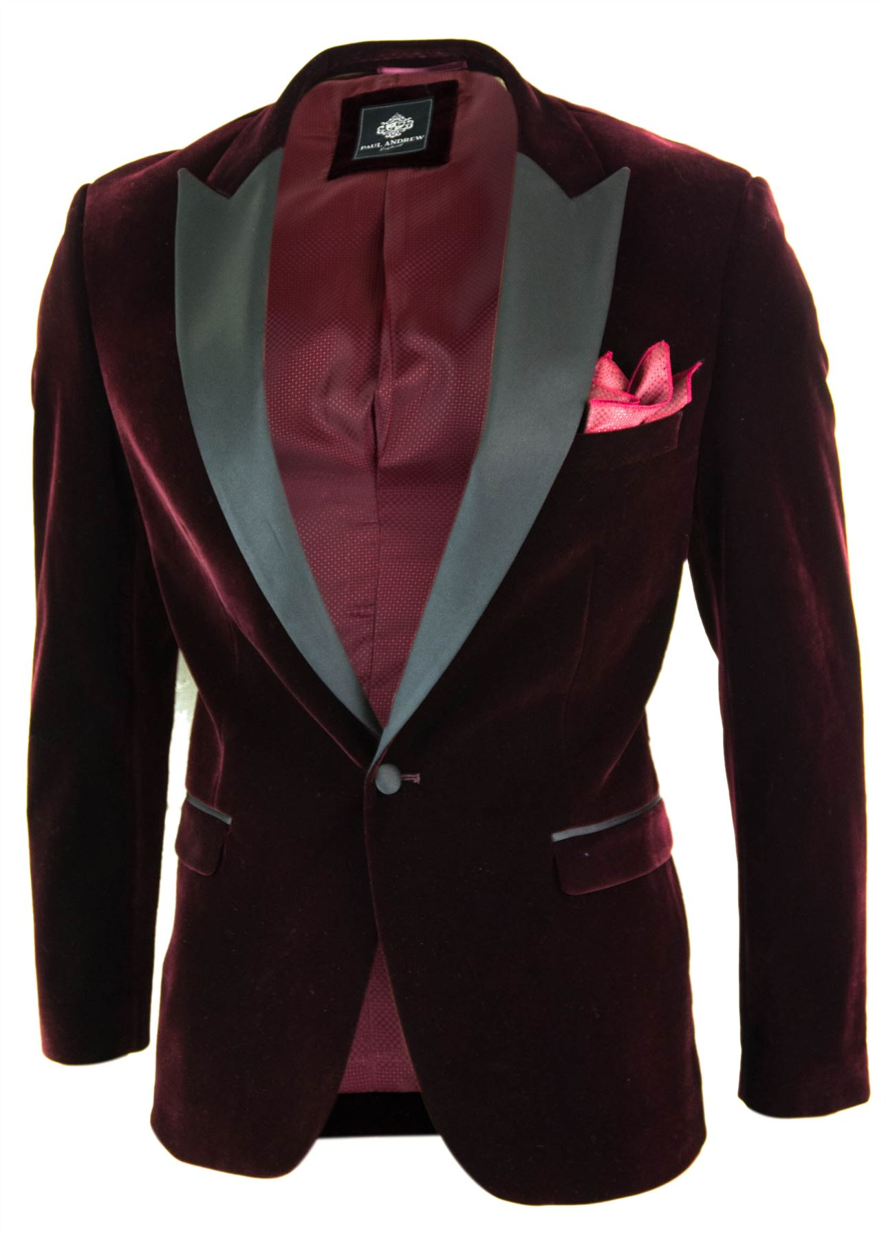 Veste velours bordeau homme