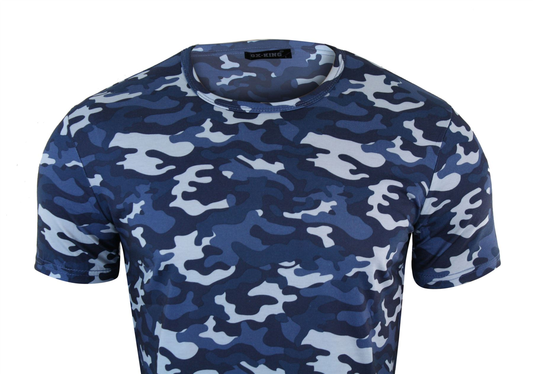 2f300a15 Mens Camouflage Camo Navy Fitted Military Army Combat Tactical T ...