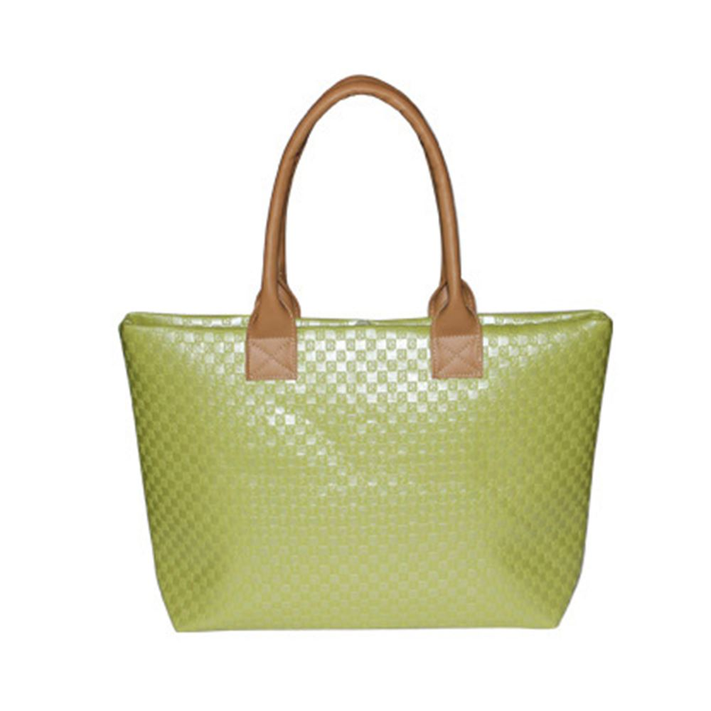 Womens Designer Large Summer Woven Pattern Beach Bag Tote ...