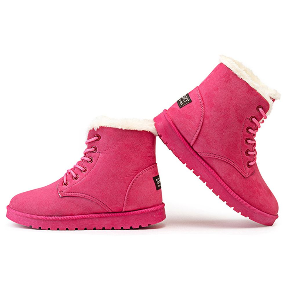 Womens stylish winter warm snow boots shoes forecasting to wear in autumn in 2019