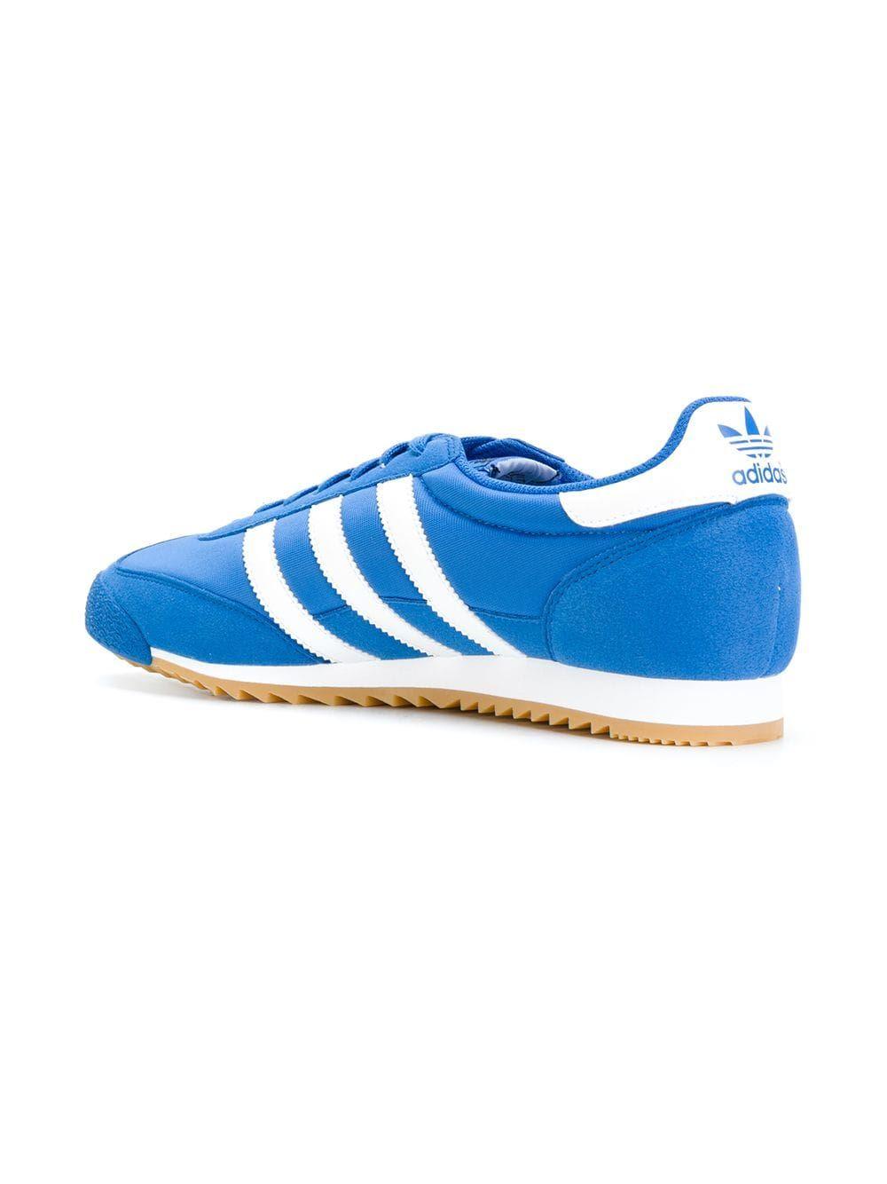 online store 49705 a9a0b Adidas Originals Dragon OG Trainer Core Blue White Gum UK 7-11