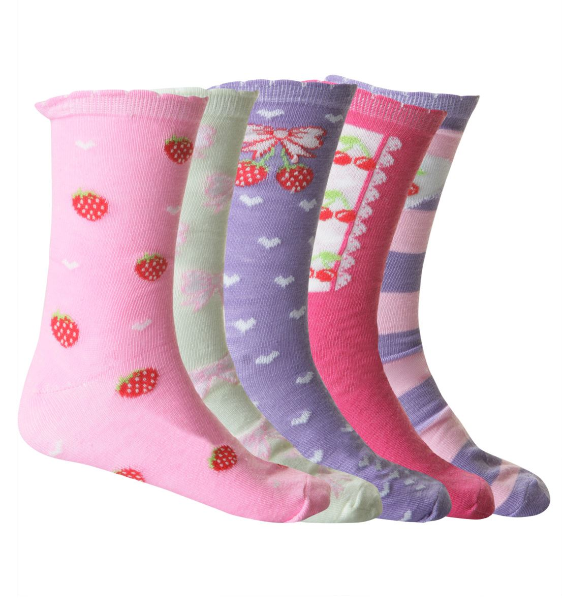 5 Pack Girls Children/'s Kids Designer Character Cotton Socks All Sizes Available