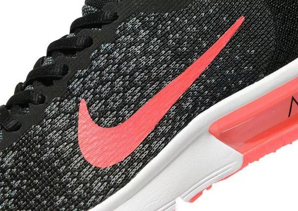 reputable site 4fbda 2a5be Nike Air Max Sequent 2 (GS) Junior 869994 005 Black Pink UK 3-5.5