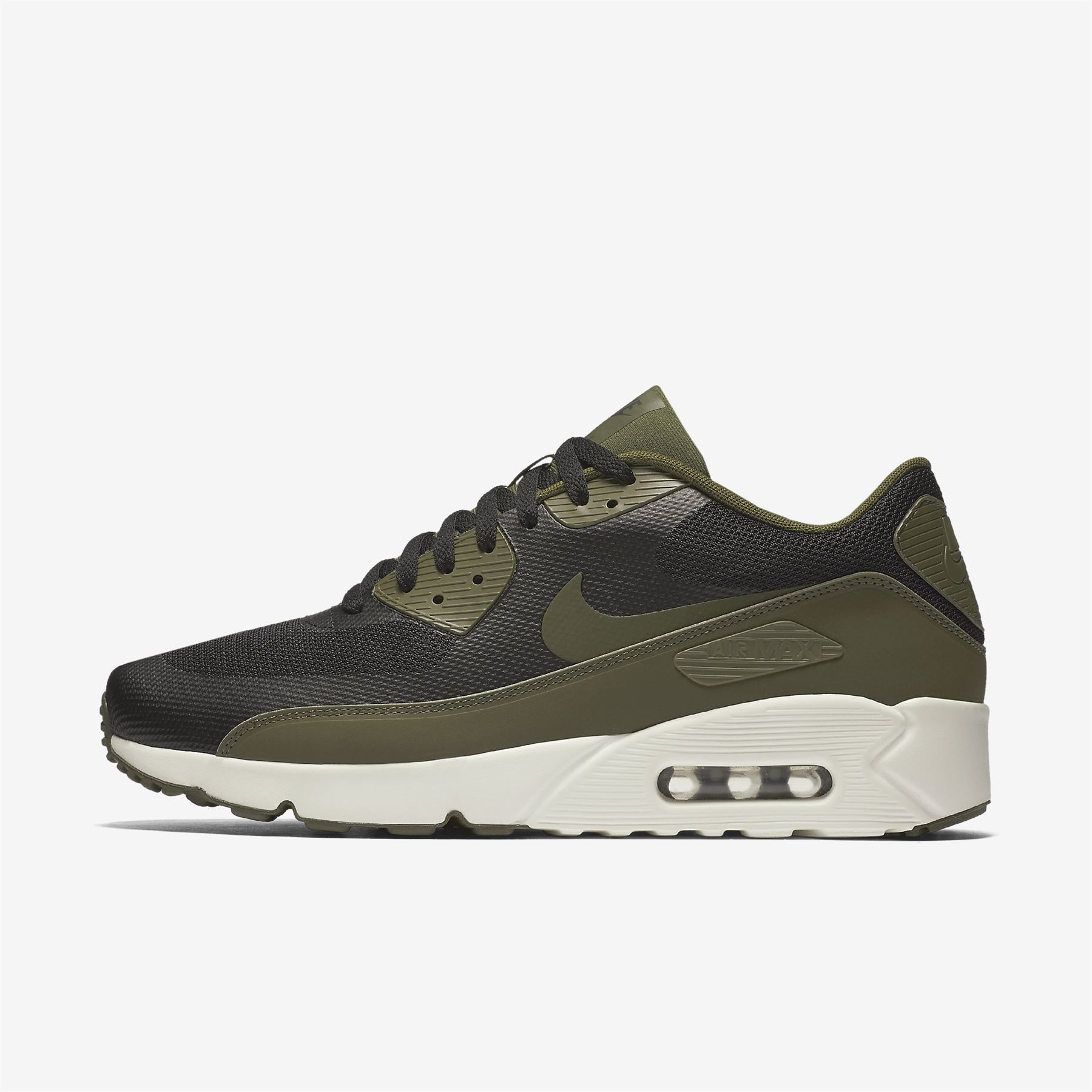 fd88fcb6cd73 Details about NIKE AIR MAX 90 ULTRA 2.0 ESSENTIAL 875695 004 MENS  BLACK-GREEN UK 6-11