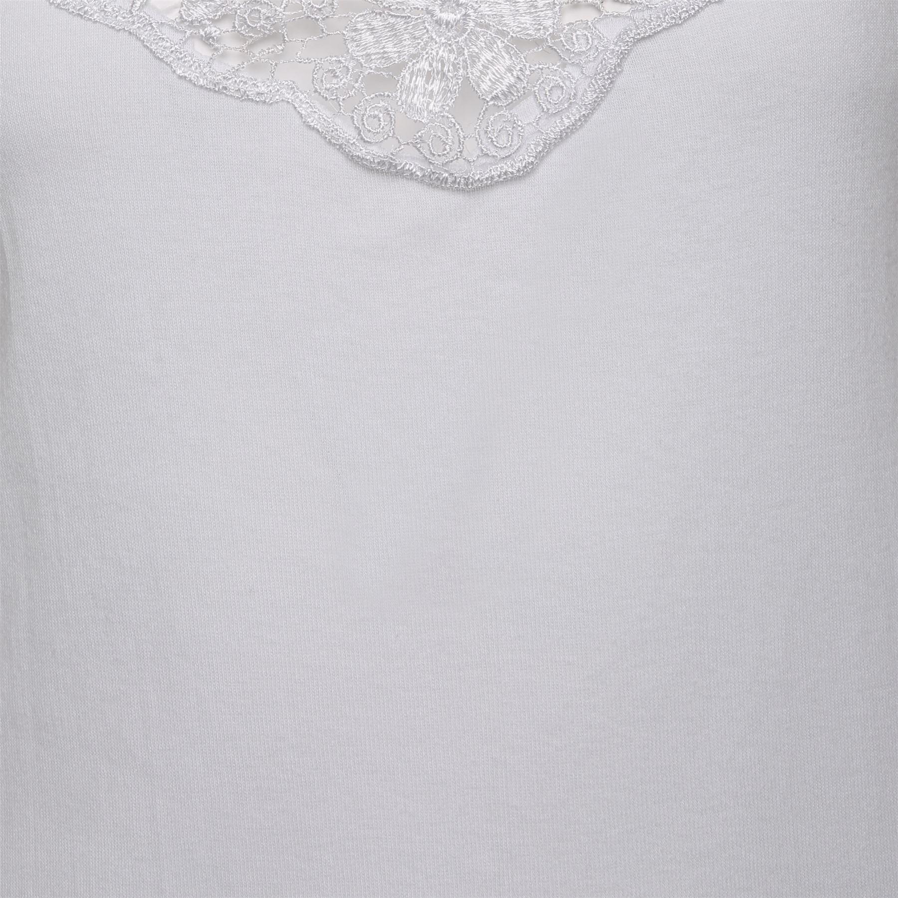 Ladies Cotton Camisole Vest Tops Neck Design Lace Trim Cami Strappy Black White