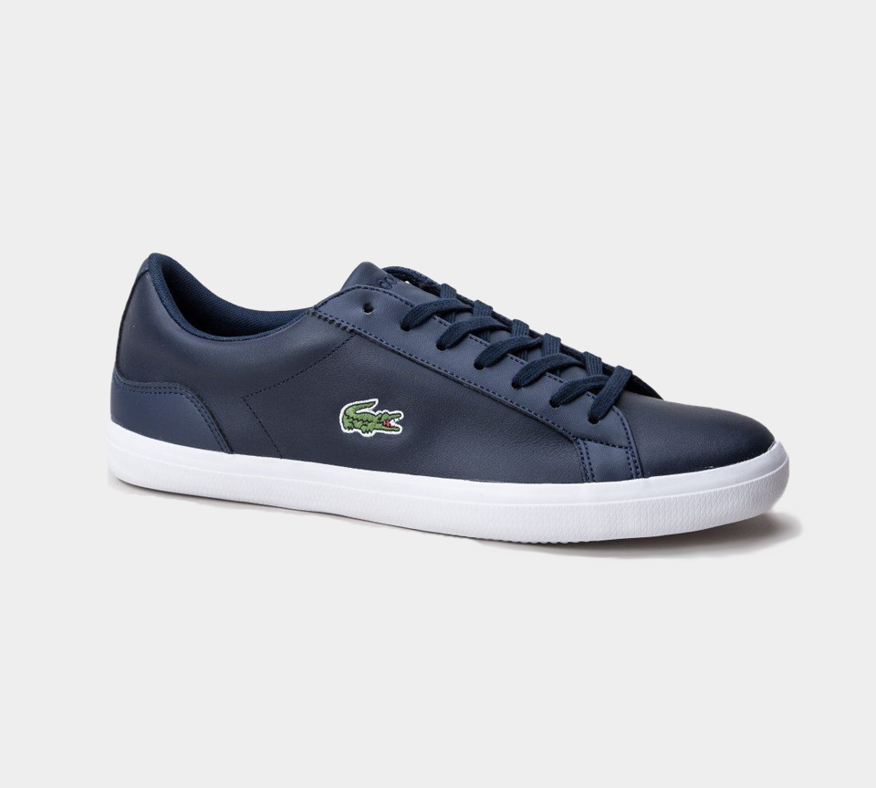 LACOSTE LEROND LEATHER MENS TRAINERS