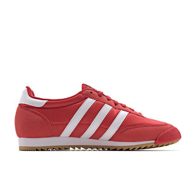 32b34b51aae7bf Details about Adidas Originals Dragon OG Trainer Core Red White Gum UK 7-11