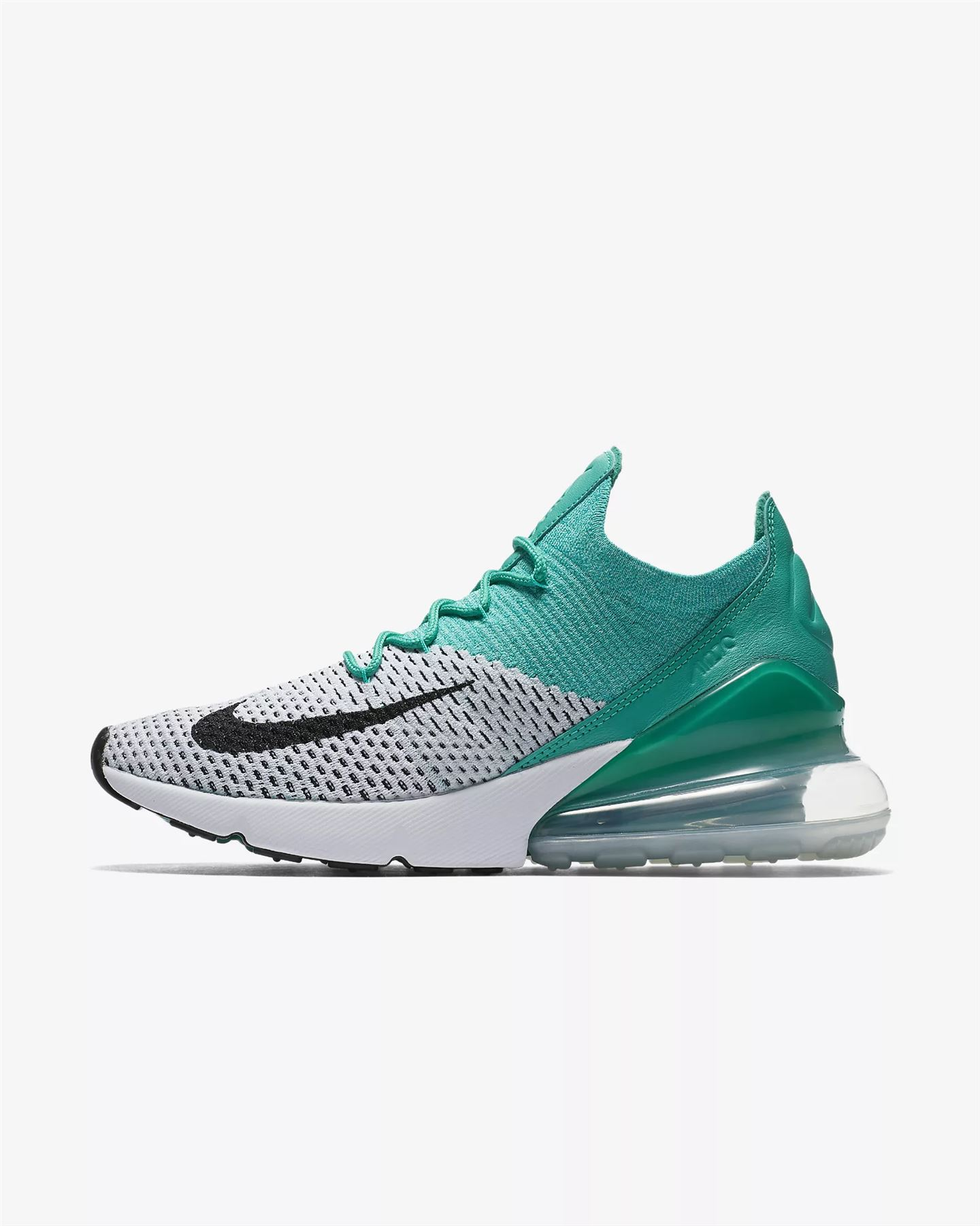 check out 701c8 05320 Nike Air Max 270 Flyknit AH6803 300 Women s Emerald UK 3.5-6