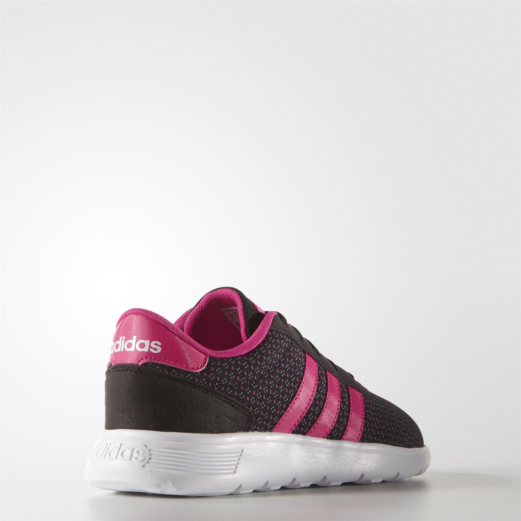 adidas lite racer k aw5122 ragazze nere / rosa uk 3 6 ebay
