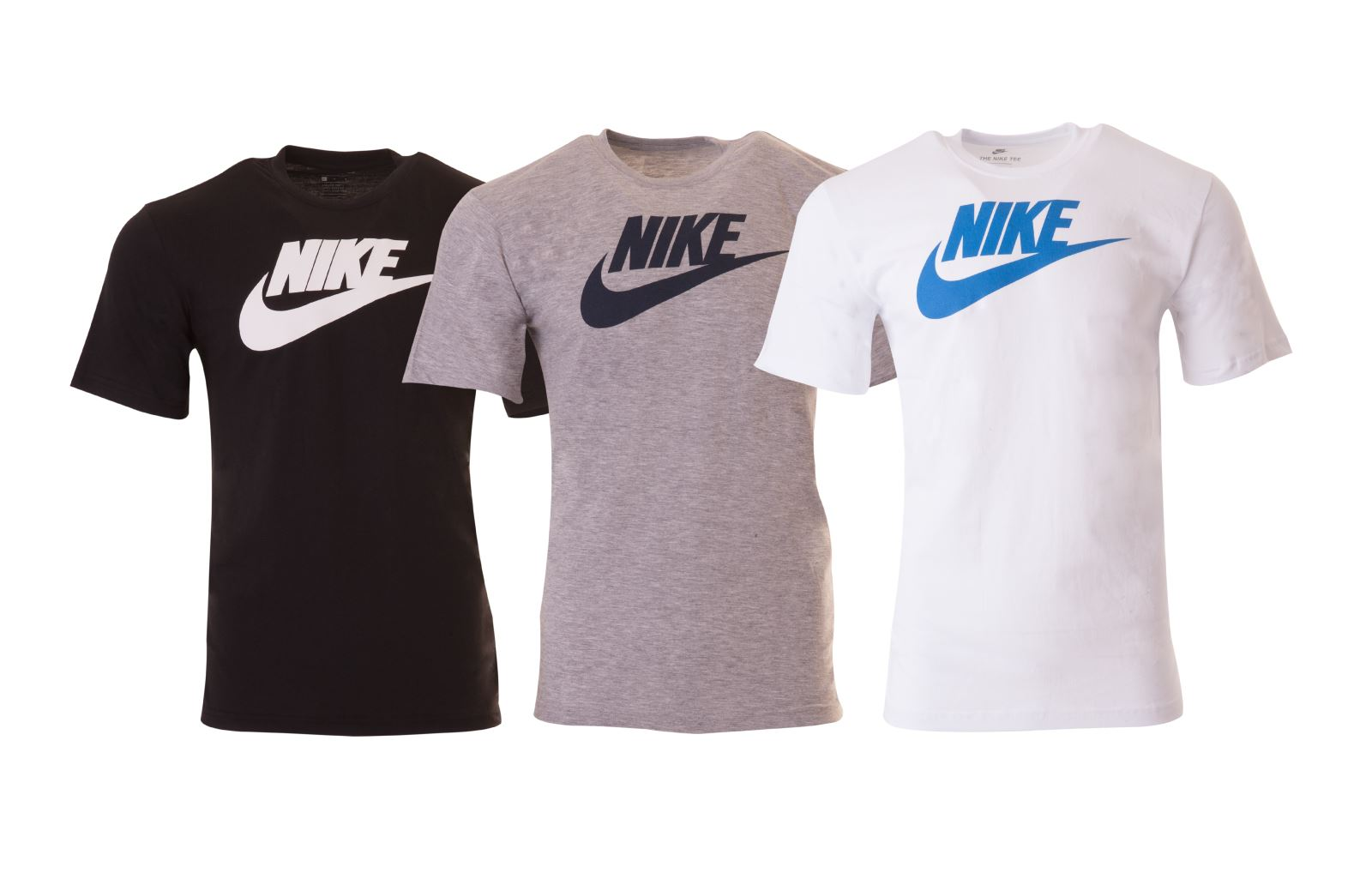 ddb6c3ae Details about Nike New Men's Tee-Futura Icon T-Shirts Lot BLACK,GREY & WHITE  All Size's