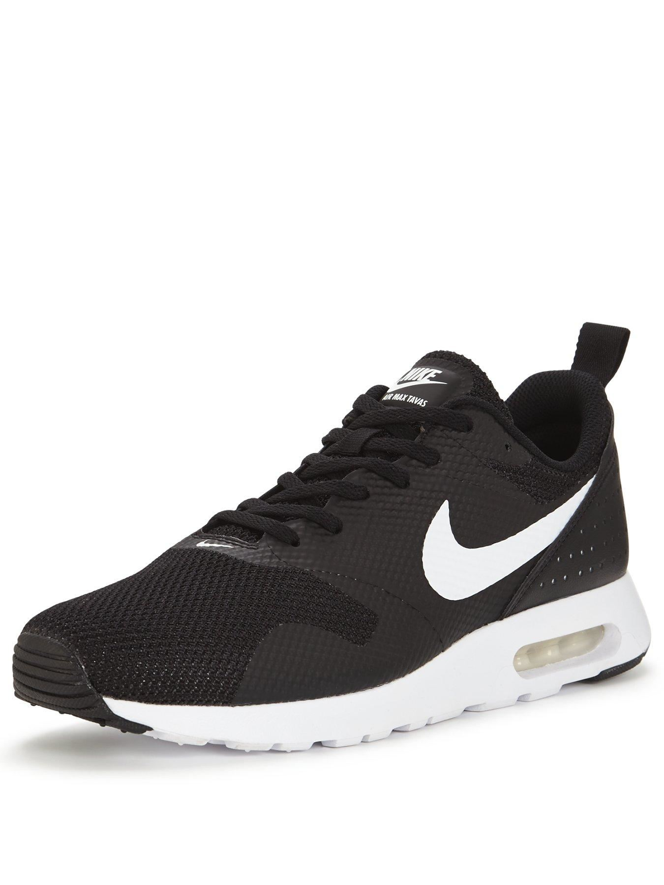 3027ca1c546f Details about NIKE AIR MAX TAVAS 705149 024 BLACK-WHITE MENS UK 6-11
