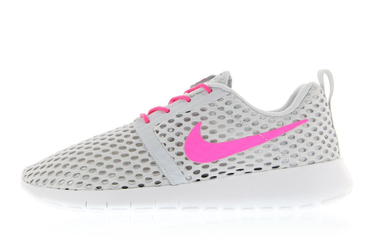 san francisco 9b754 88b31 NIKE ROSHE ONE FLIGHT WEIGHT JUNIOR GREYPINK GIRLS 705486 006 UK 3-5.5