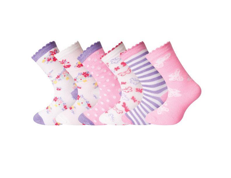 6//12 Pairs Girls Boys Character Cotton Socks Lot Childrens Kids Novelty Designer